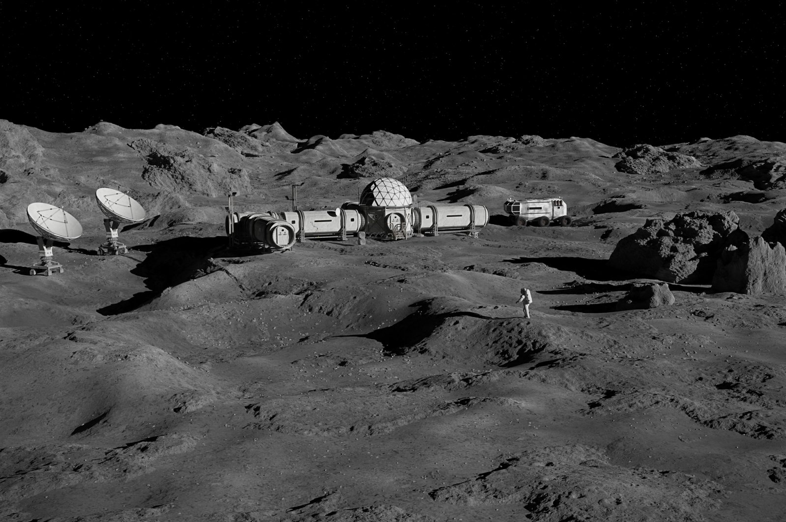 Future bases and homes on the moon could be made with the help of human urine. (iStock Photo)