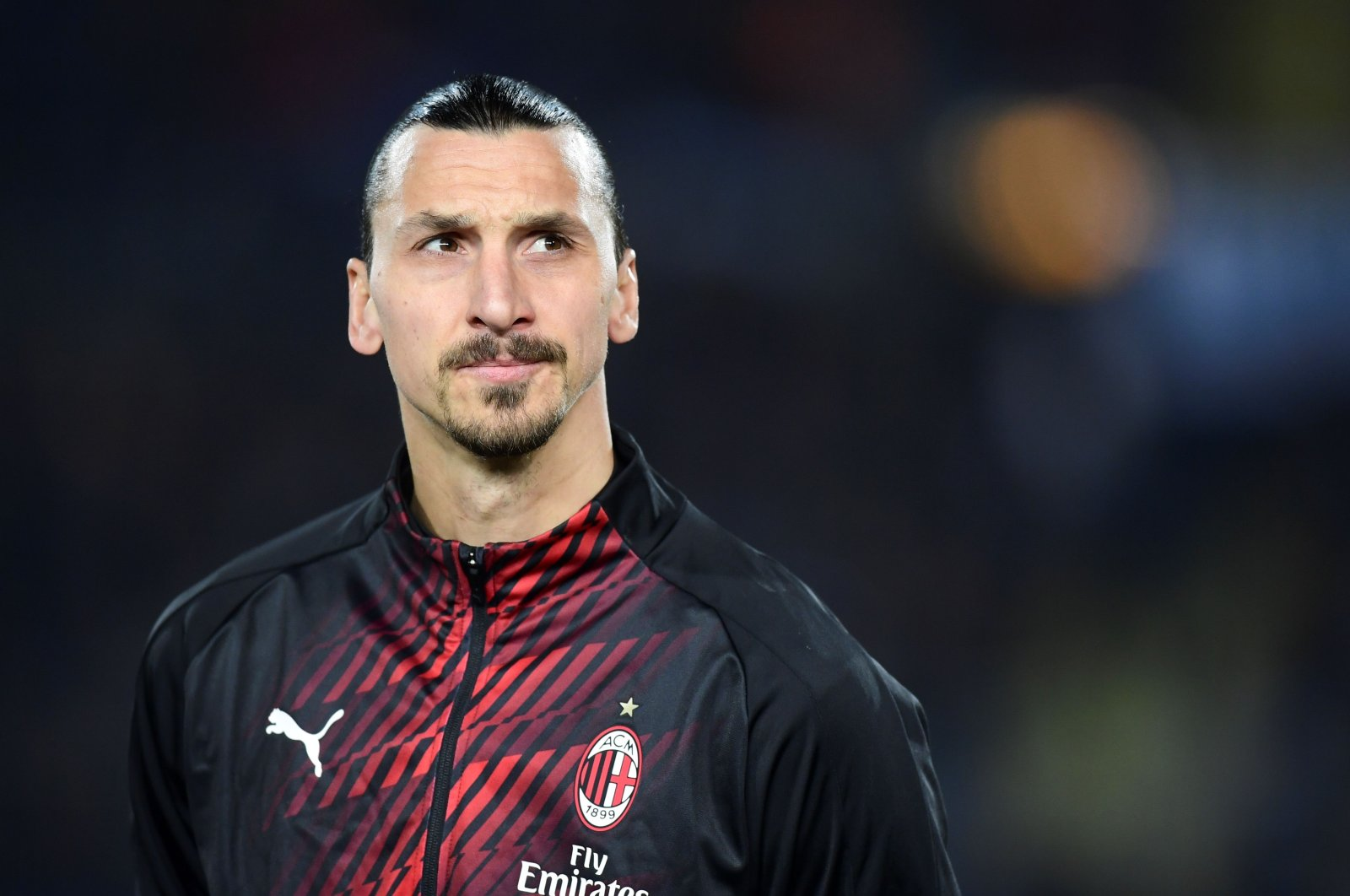 Zlatan Ibrahimovic during a Serie match in Brescia, Italy, Jan. 24, 2020. (AFP Photo)