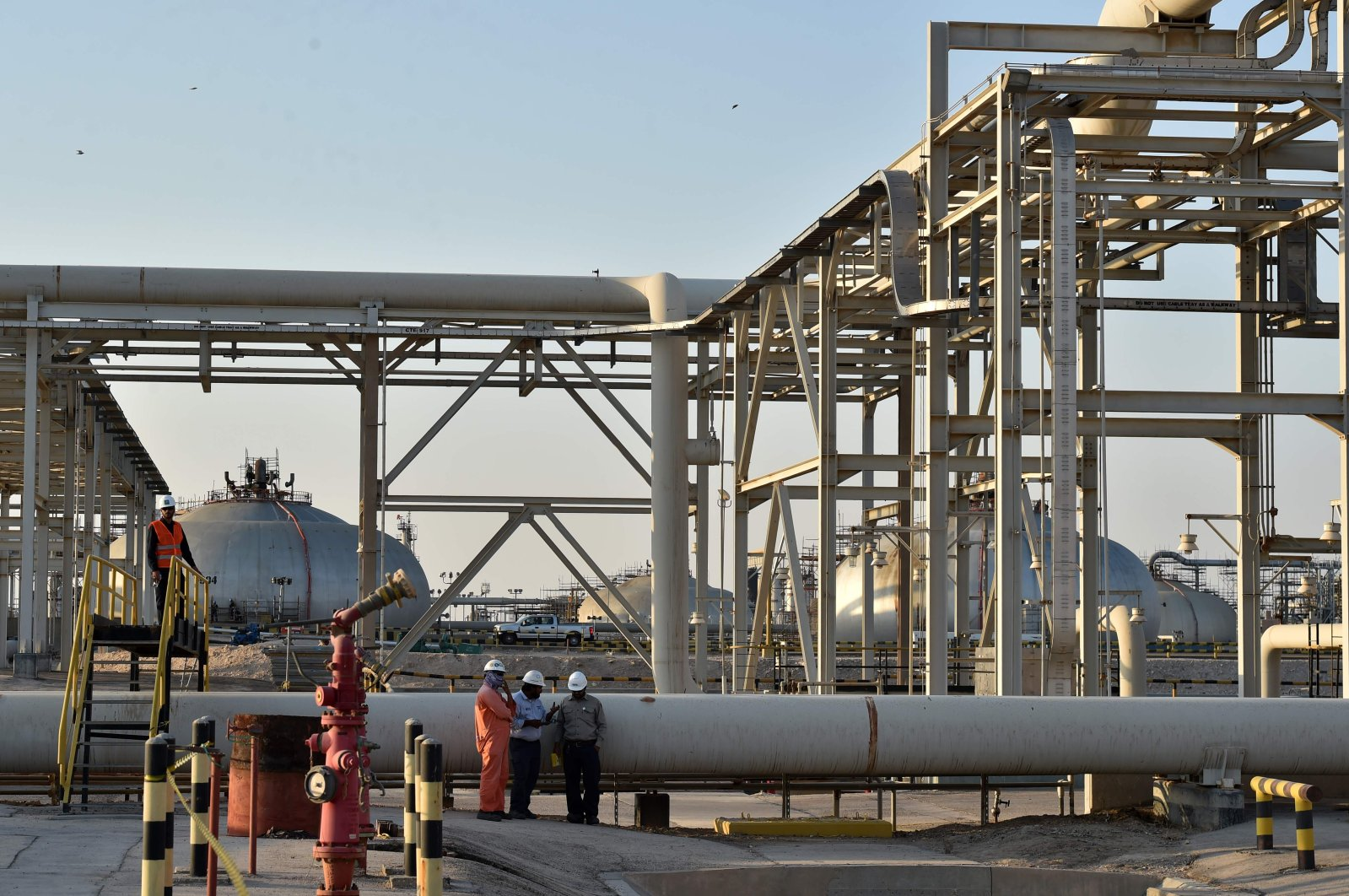A partial view of Saudi Aramco's Abqaiq oil processing plant, Eastern Province, Saudi Arabia, Sept. 20, 2019. (AFP Photo)