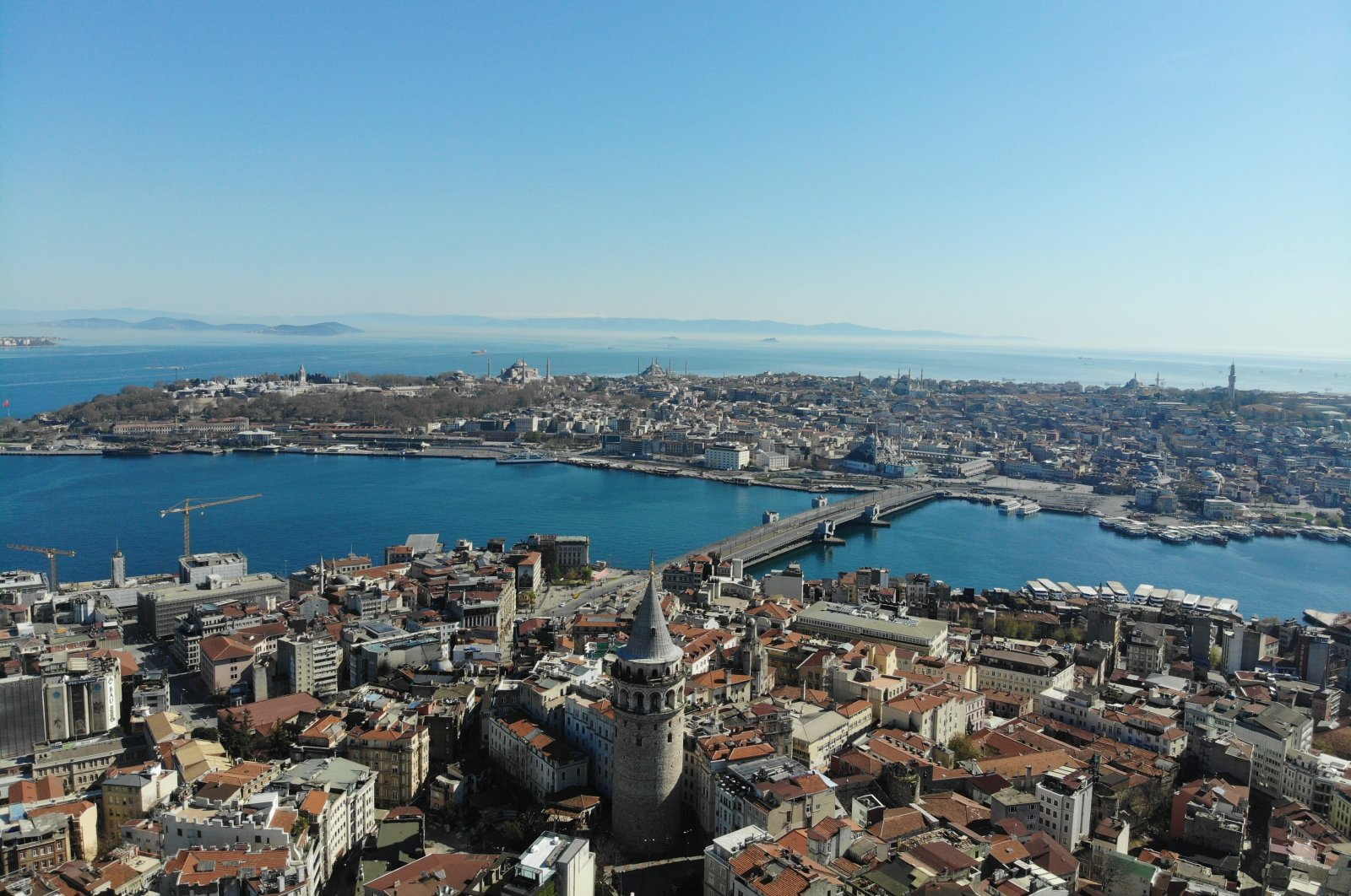 An overview of central Istanbul, Turkey, May 9, 2020. (İHA Photo)