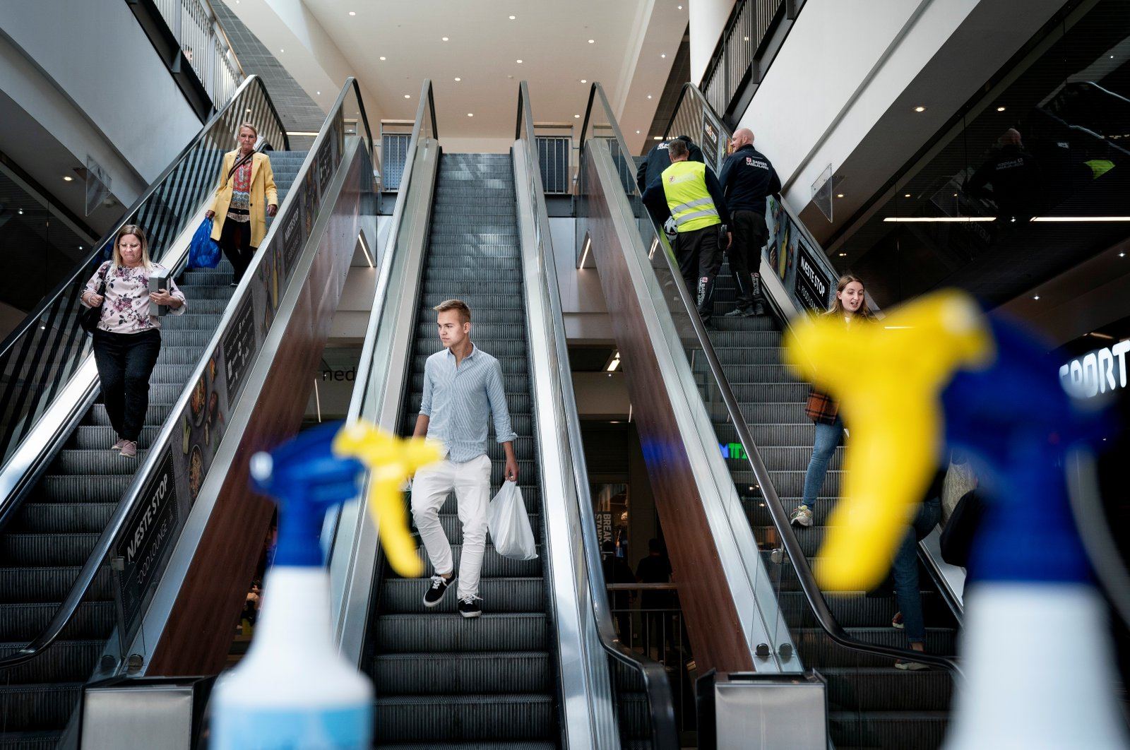 The first customers return to a shopping center, Copenhagen, Denmark, May 11, 2020. (Reuters Photo)