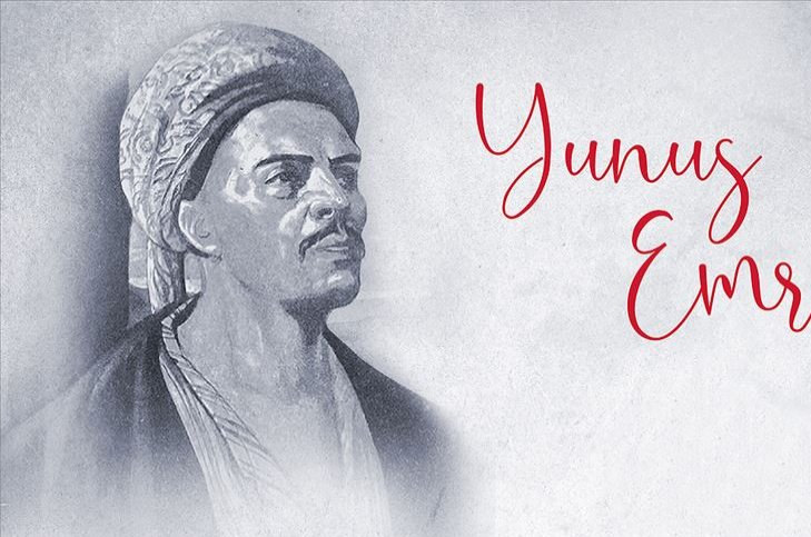 As there is no available visual source beloging to Yunus Emre, this common depiction is used to portray him. (AA Photo)