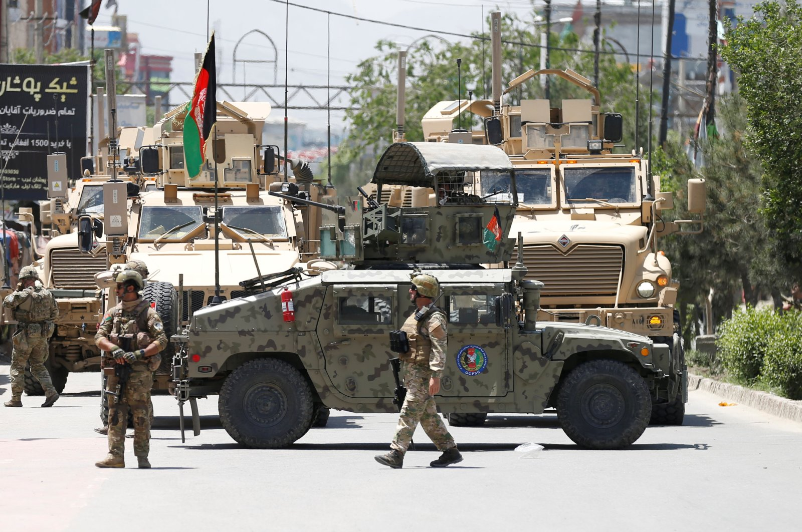 Afghan security forces stand guard outside a hospital which came under attack, Kabul, May 12, 2020. (REUTERS Photo)