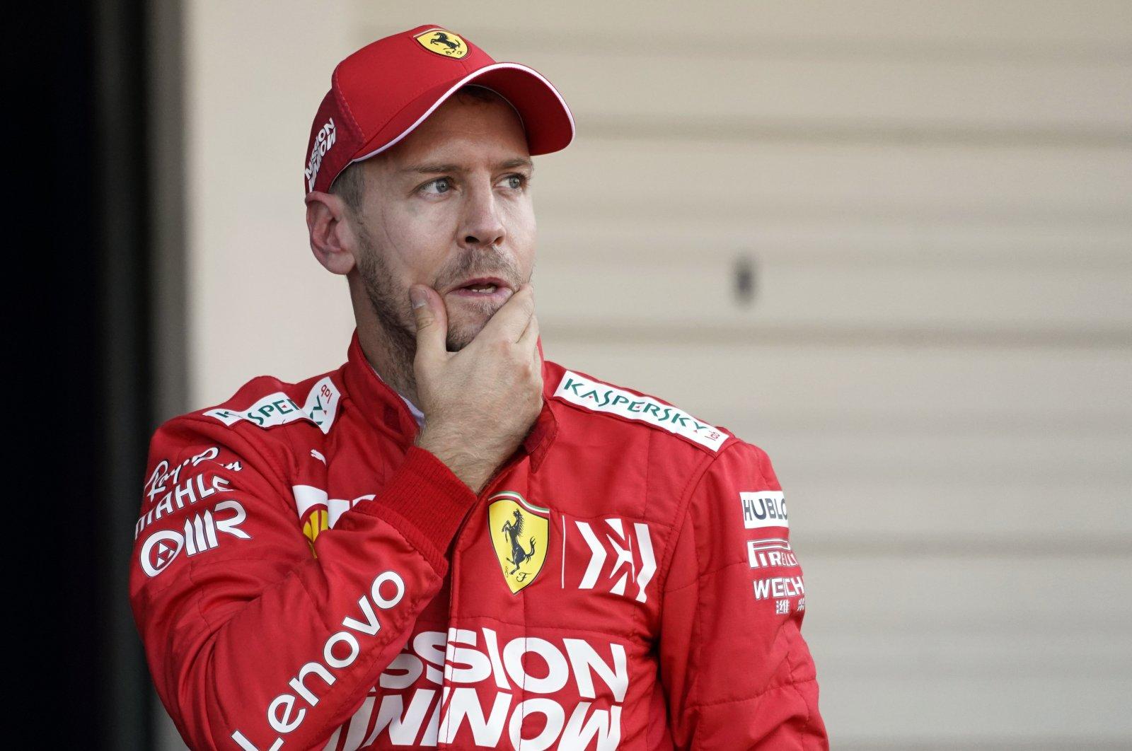 Sebastian Vettel reacts after a race in Suzuka, Japan, Oct. 13, 2019. (EPA Photo)