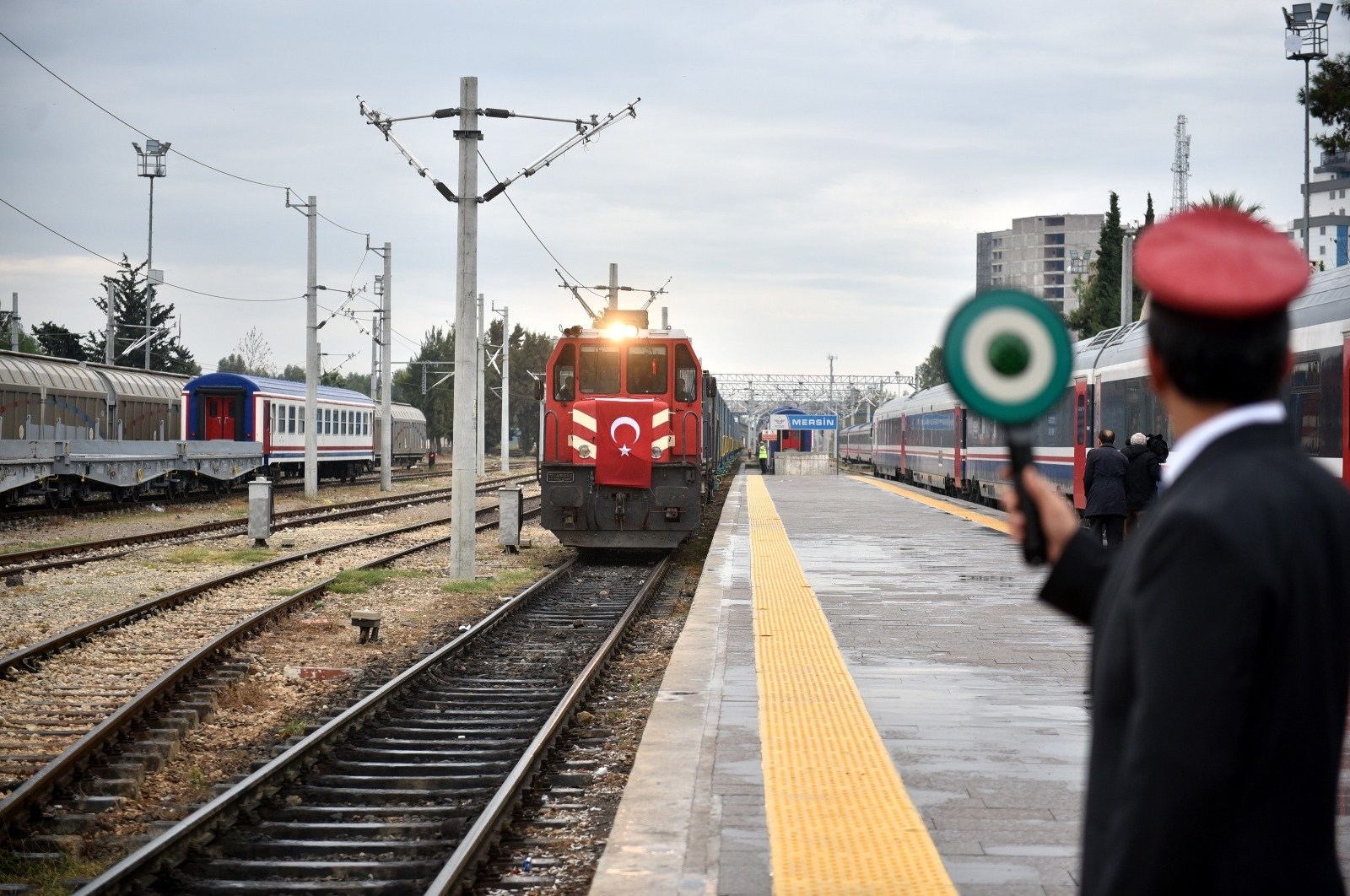 Train carrying export goods from Kazakhstan and Azerbaijan via BTK to Turkey's Denizli and Mersin will be the first one to use the new system. (AA File Photo)