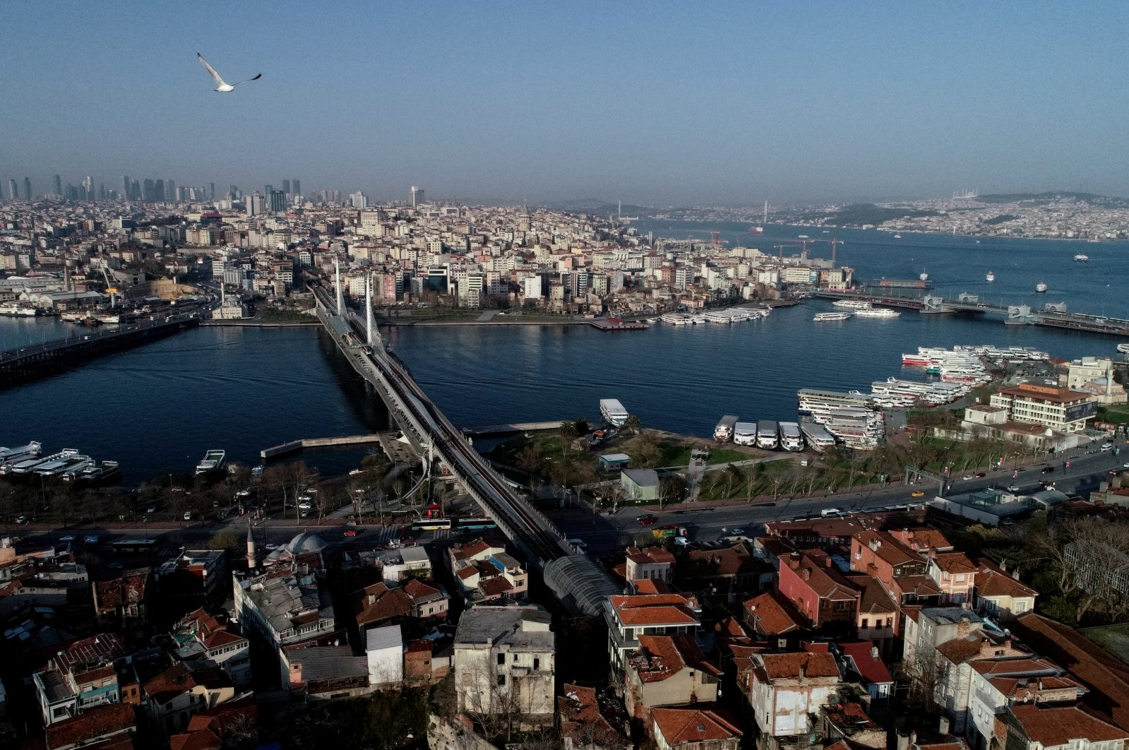 An aerial view of the city during the outbreak of the coronavirus disease (COVID-19), in Istanbul, Turkey, March 30, 2020. (Reuters Photo)