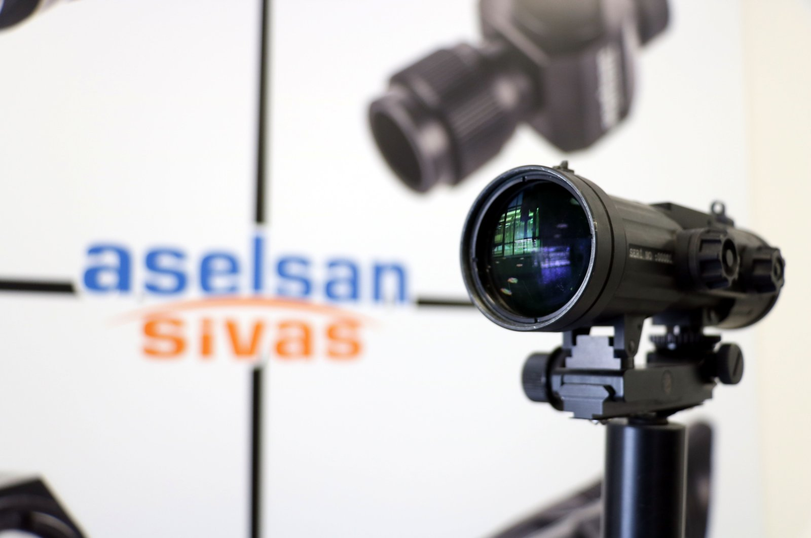 Lens systems produced by ASELSAN displayed in the company's factory in Sivas, Turkey, May 14, 2020. (IHA Photo)