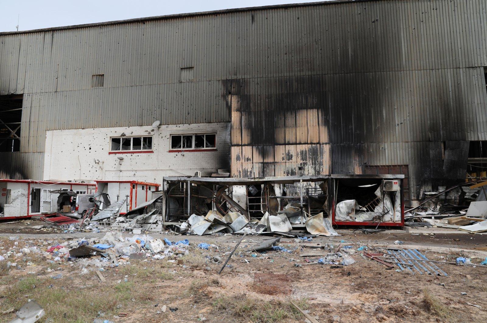 Damage is seen following shelling at Mitiga International Airport in Tripoli, Libya, May 10, 2020. (Reuters Photo)