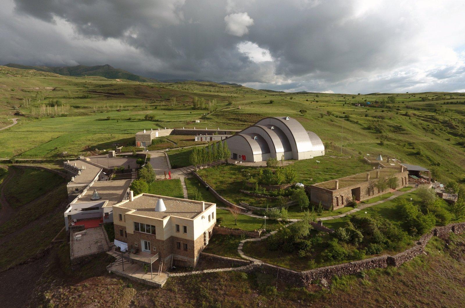 The Baksı Museum is located on a hill overlooking the Çoruh Valley in Bayburt, Turkey.
