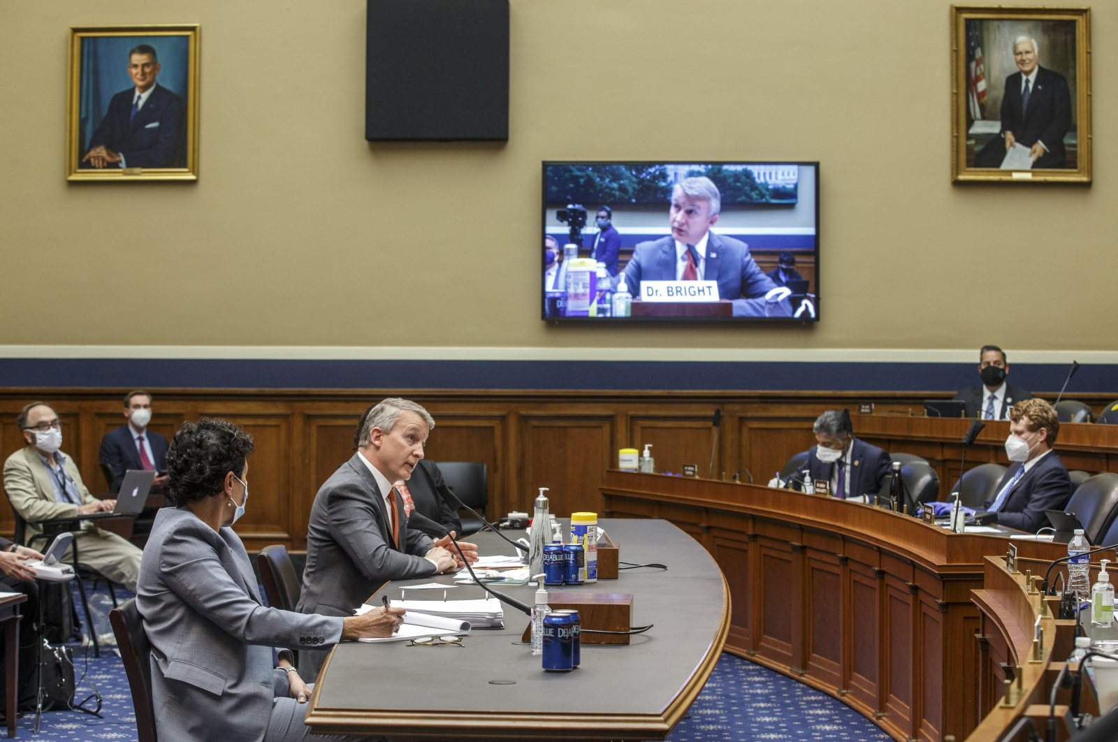 Dr. Richard Bright, former director of the Biomedical Advanced Research and Development Authority, testifies before a House Energy and Commerce Subcommittee on Health hearing to discuss protecting scientific integrity in response to the coronavirus outbreak on Capitol Hill, Washington, D.C., May 14, 2020. (AP Photo)