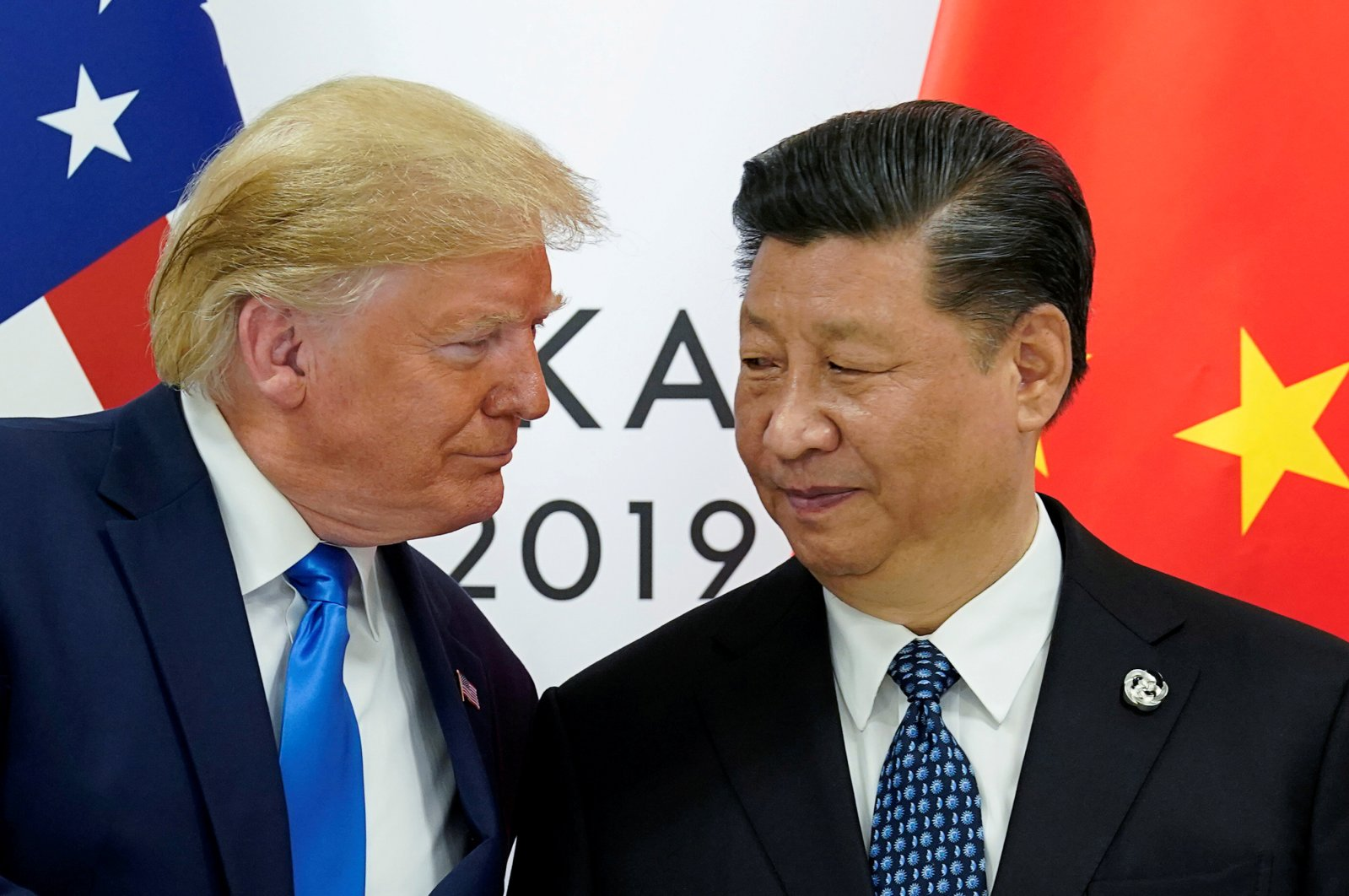 U.S. President Donald Trump meets with China's President Xi Jinping at the start of their bilateral meeting at the G20 leaders summit in Osaka, Japan, June 29, 2019. (Reuters File Photo)