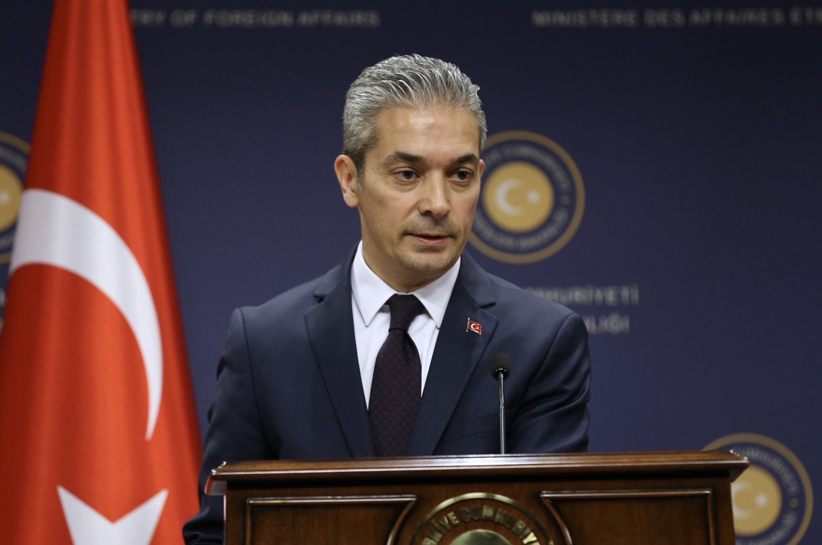 Foreign Ministry spokesperson Hami Aksoy. (AA)