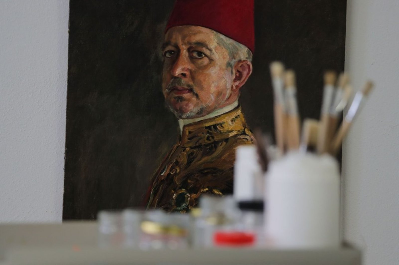 The restored collection mostly comprises of portraits of sultans. (DHA Photo)
