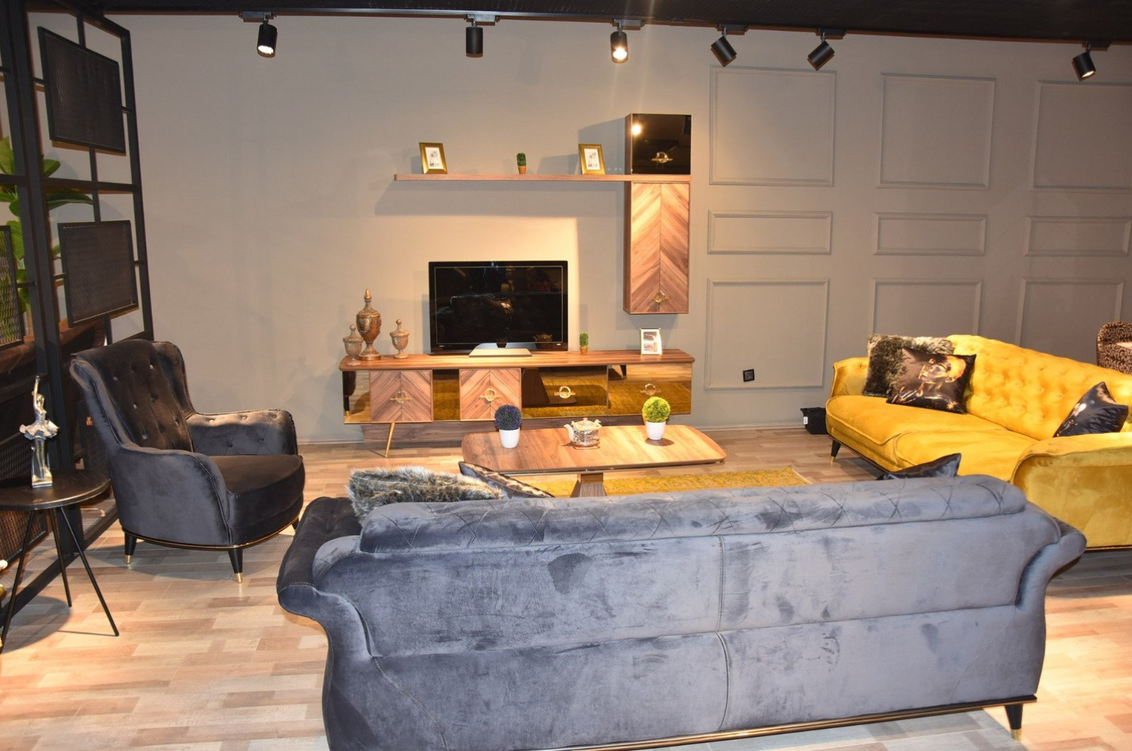 Furniture is seen in a store in the Inegöl district of Turkey's northwestern province of Bursa. (File Photo)