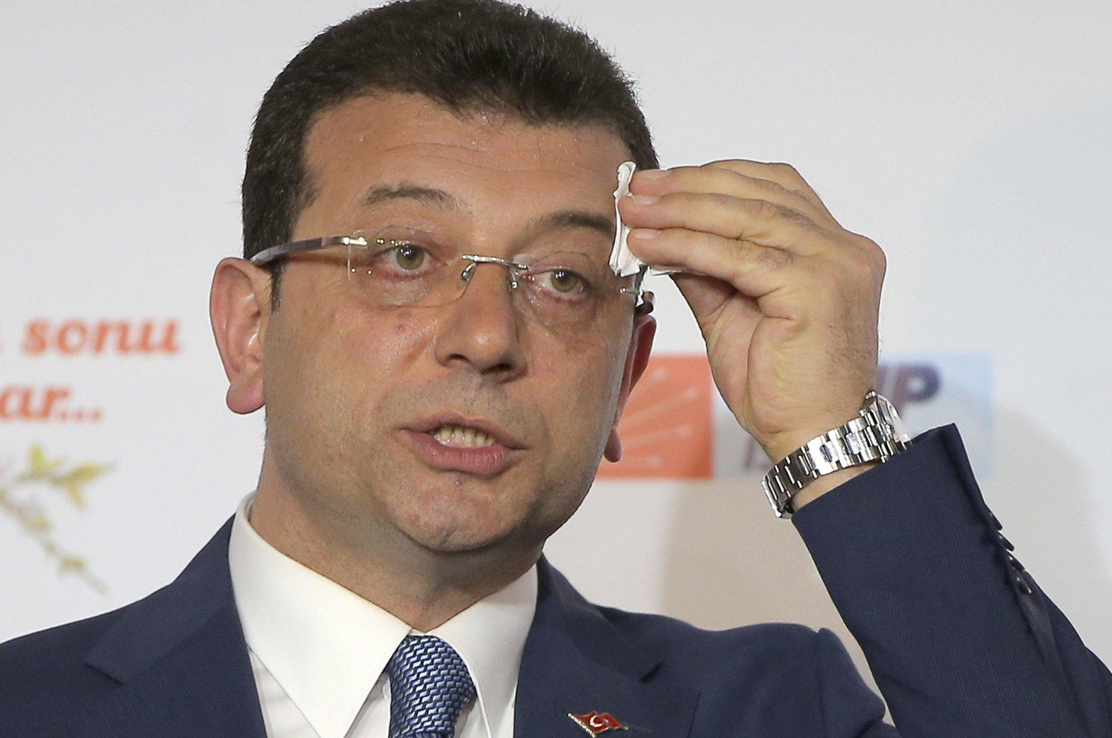 Istanbul Metropolitan Municipality Mayor Ekrem Imamoğlu.