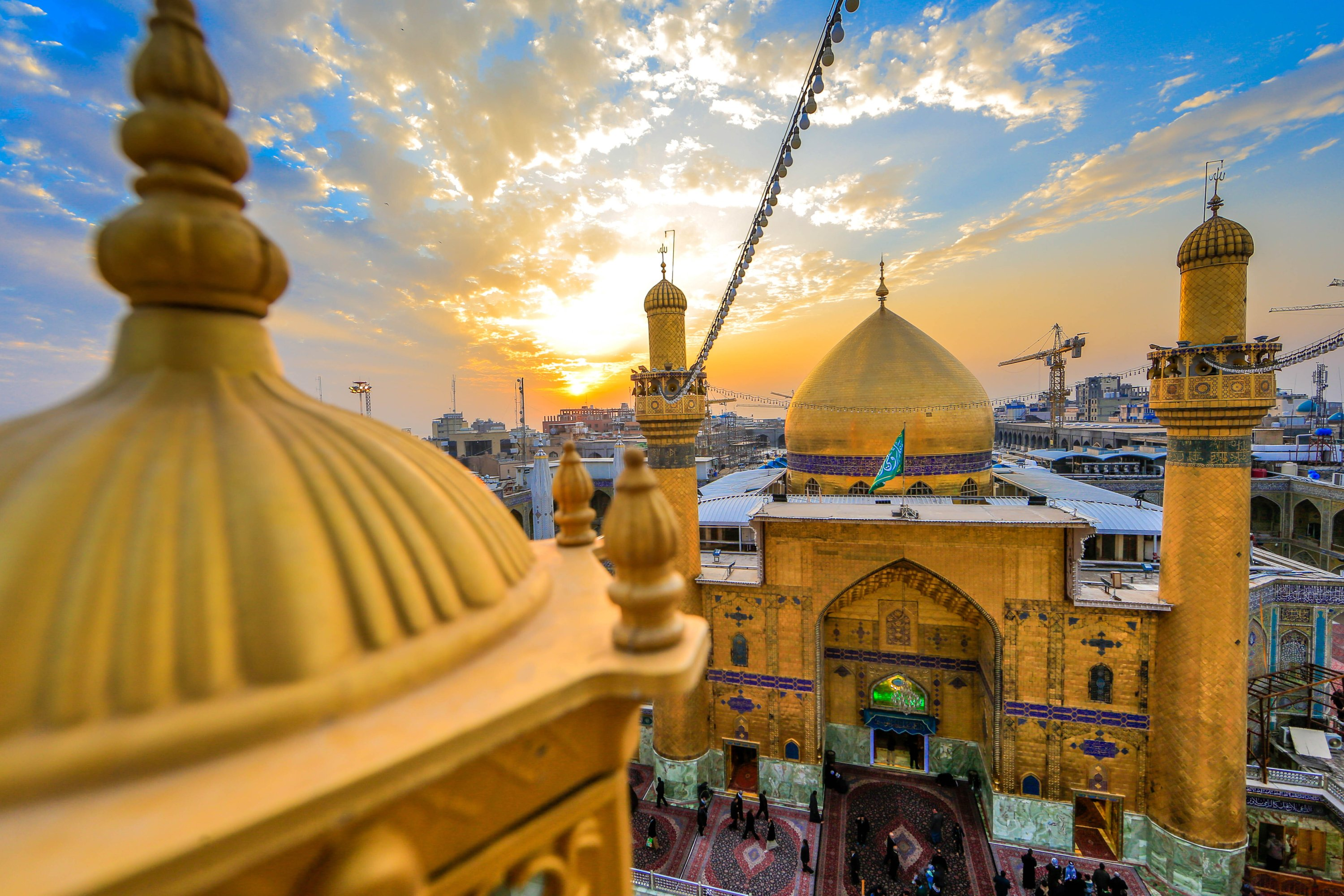 The Shrine of Imam Ali houses the burial site of Ali, who is he son-in-law of the Prophet Muhammad and the fourth caliph.