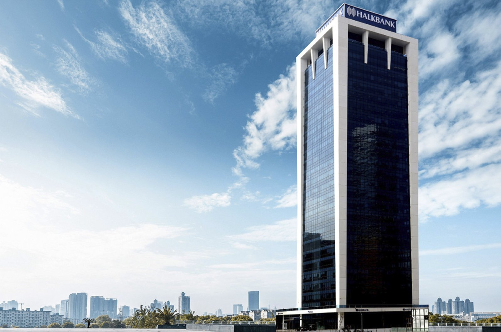 The headquarters of Turkey's public Halkbank in the Ataşehir district of Istanbul. (File Photo)