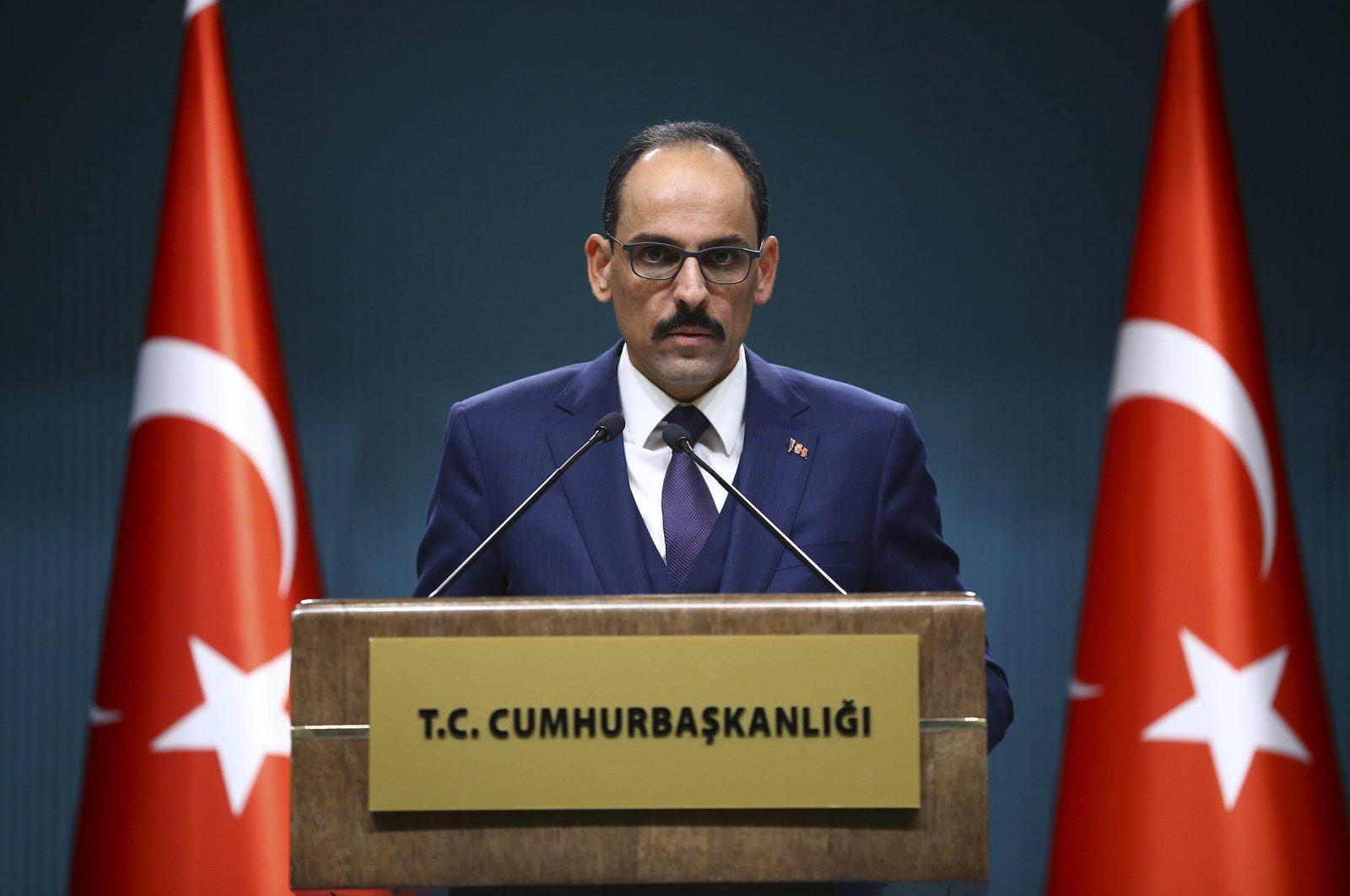 Presidential Spokesperson İbrahim Kalın speaks at a news conference in the capital Ankara, Turkey, Dec. 12, 2019. (AA File Photo)