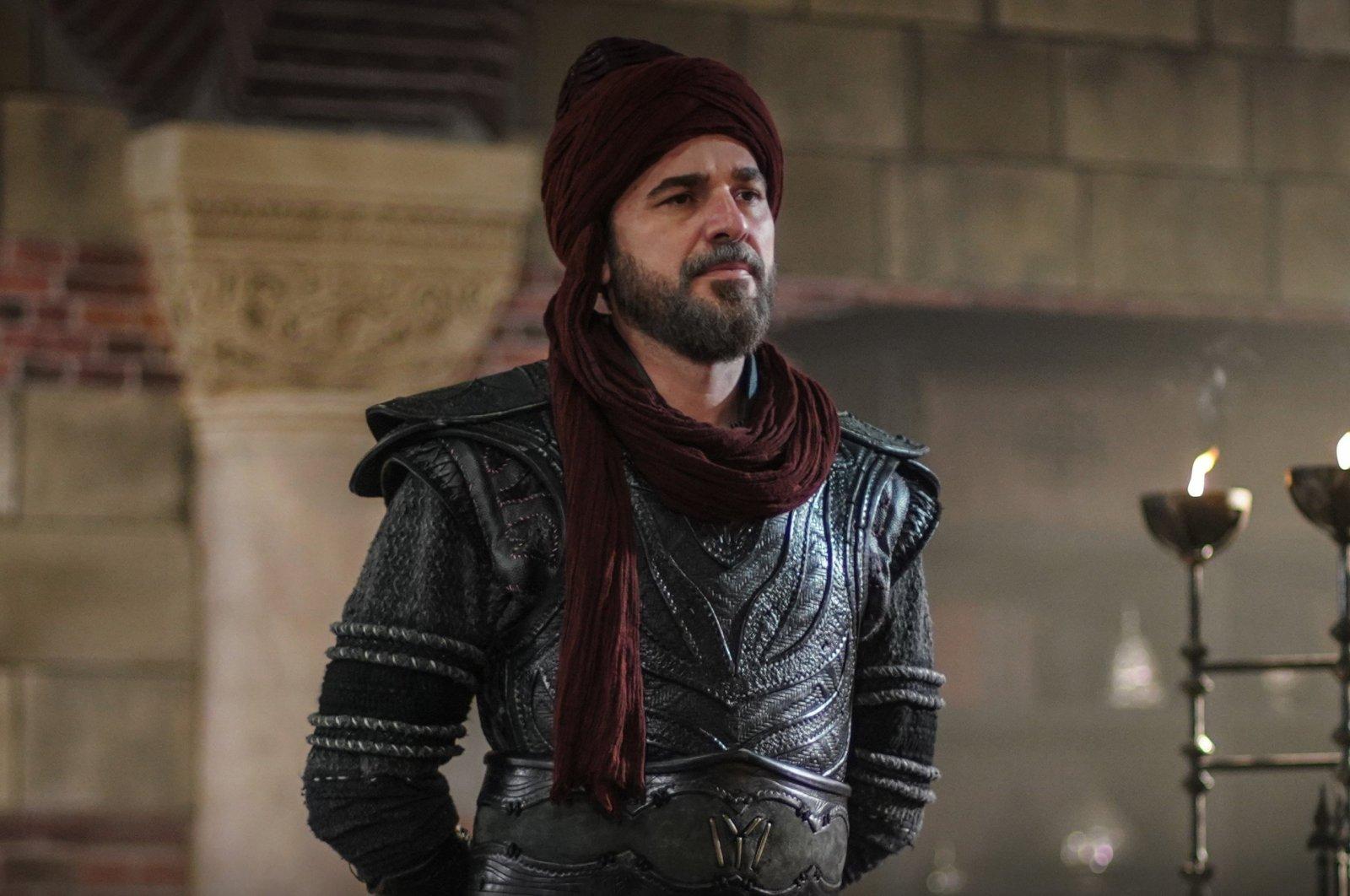 A still shot showing actor Engin Altan Düzyatan as Ertuğrul Gazi in the series.