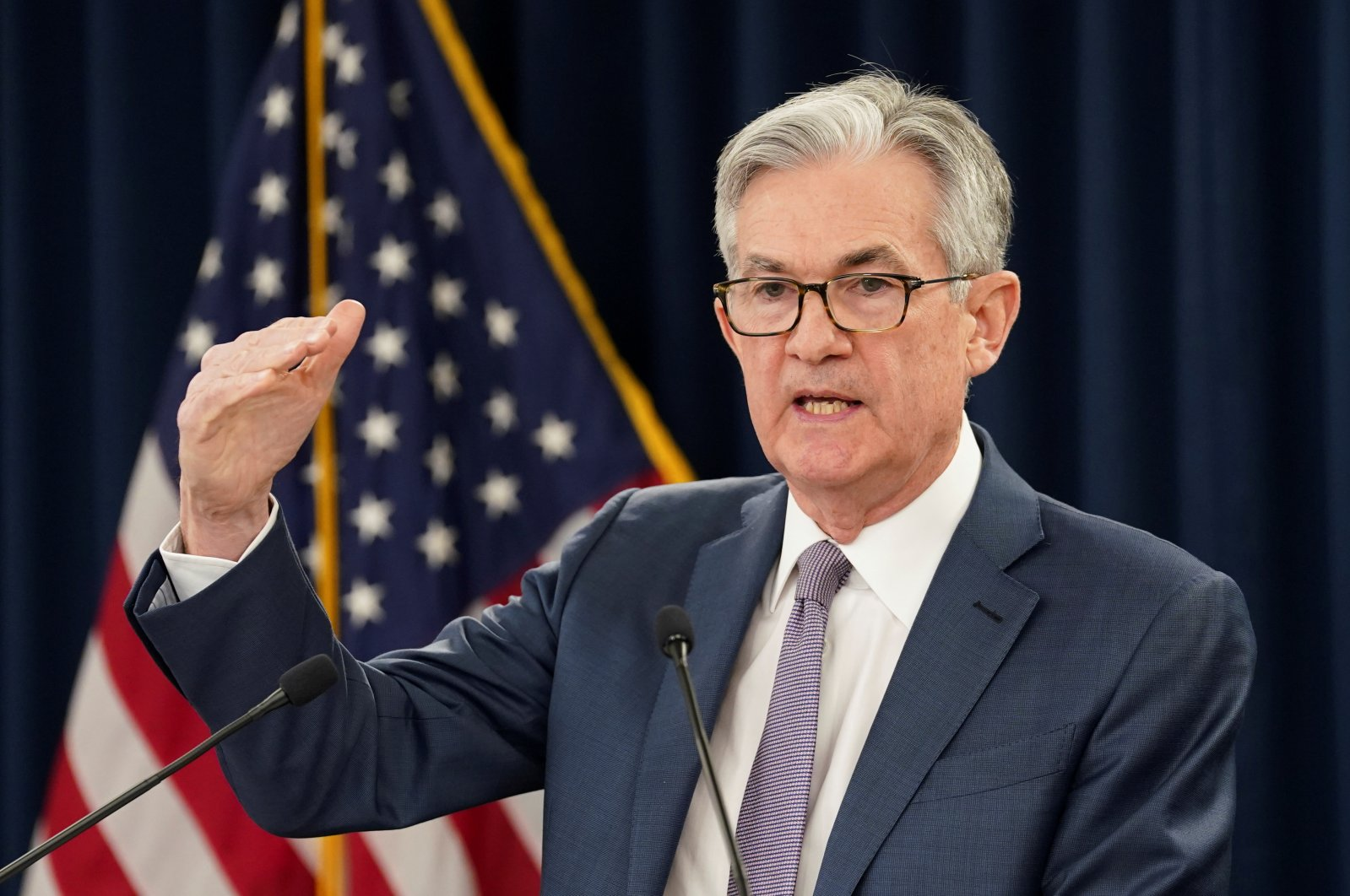U.S. Federal Reserve Chairman Jerome Powell speaks to reporters during a news conference in Washington, D.C., U.S., March 3, 2020. (Reuters Photo)