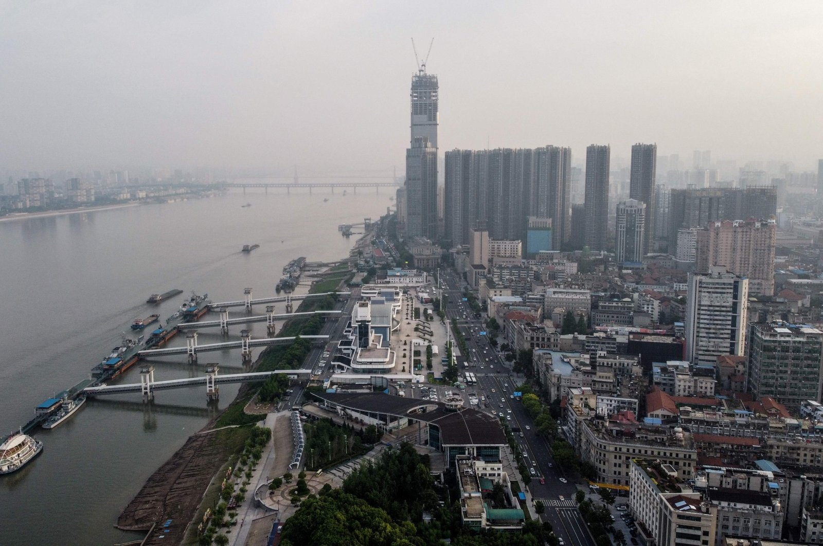 An aerial view shows the city of Wuhan, central Hubei province, China, May 15, 2020. (AFP Photo)