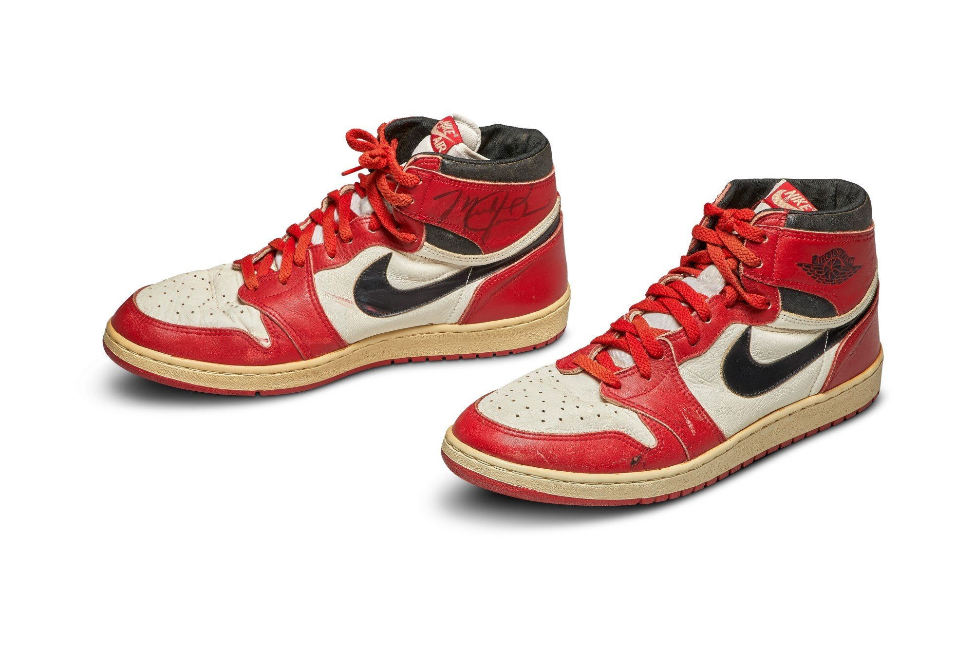 MJ's first-ever Air Jordan sneakers sold for $560,000 at Sotheby's. (IHA Photo)