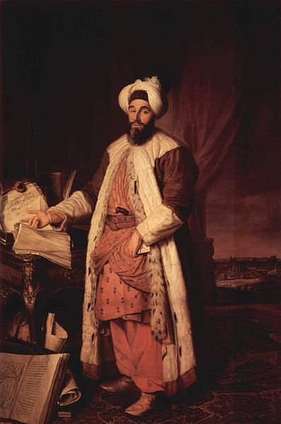 A portrait of Mehmed Said Efendi by French painter Joseph Aved in Paris in 1741.
