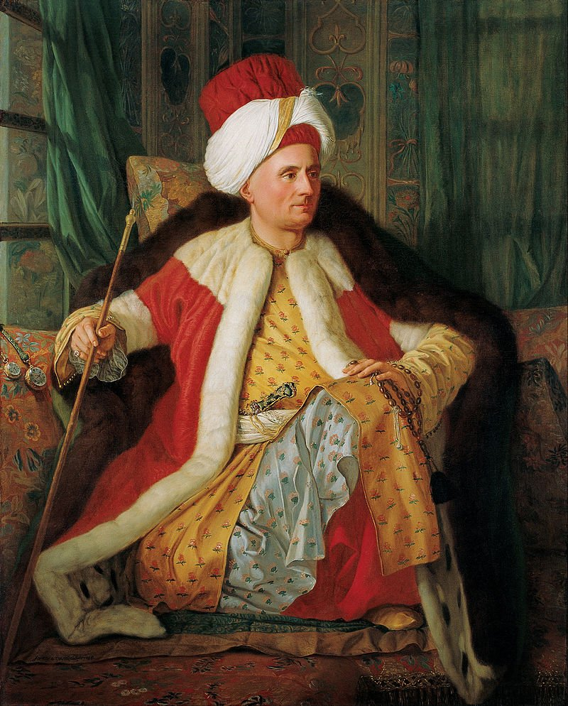 French ambassador Charles Gravier de Vergennes in Ottoman dress, painted by Antoine de Favray in 1766.
