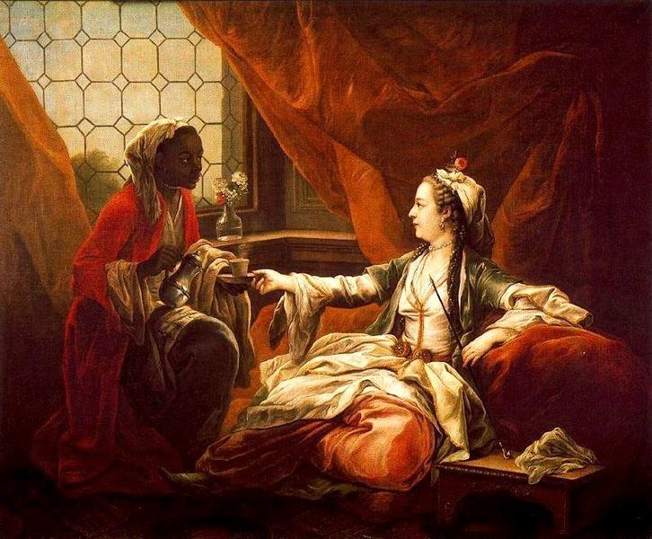 An Orientalist work by Charles-André van Loo.