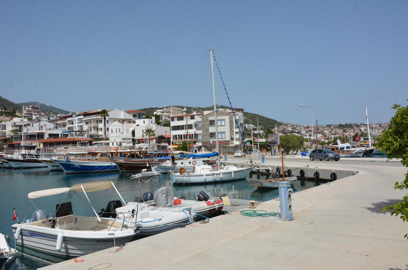 A pier in Muğla's Datça district, Turkey, May 18, 2020. (DHA Photo)