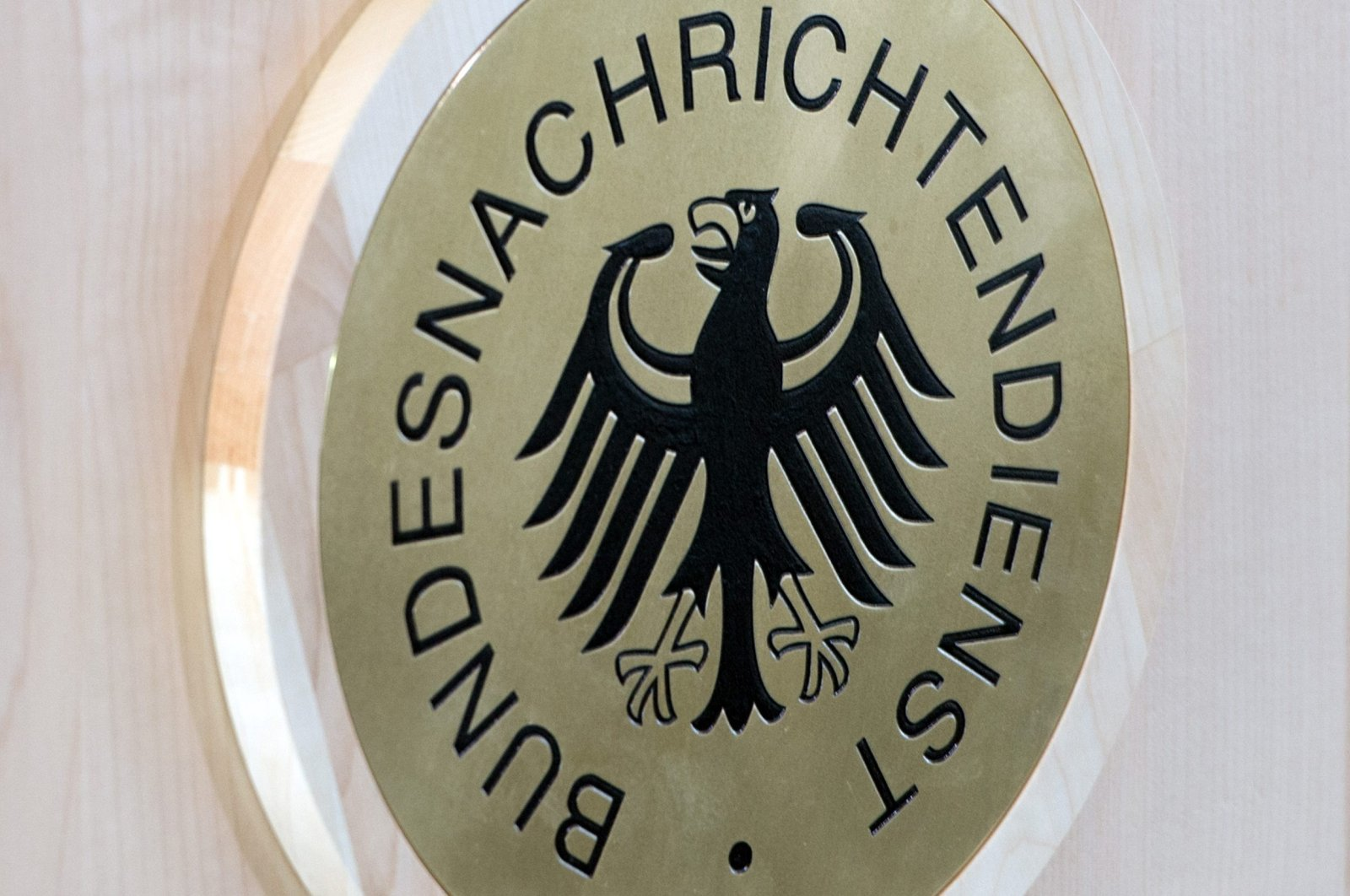 The logo of Germany's Federal Intelligence Service, the Bundesnachrichtendienst, is seen in this undated file photo.