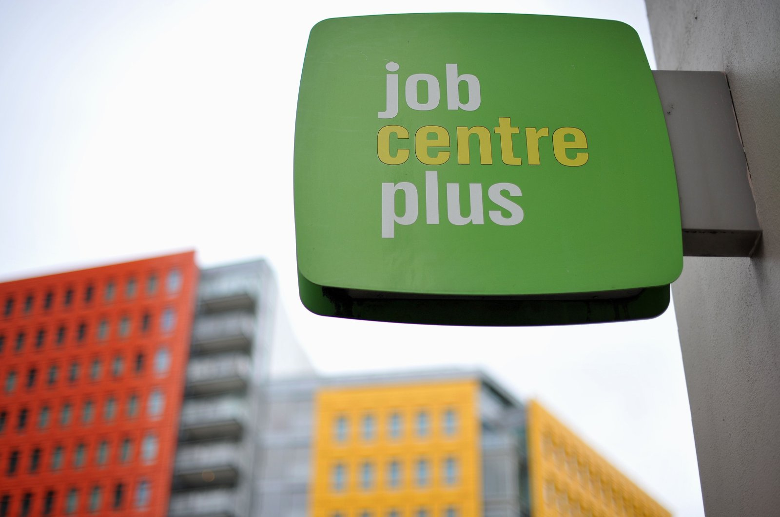 A Job Centre Plus sign is pictured in central London, England, Oct. 12, 2011. (AFP Photo)