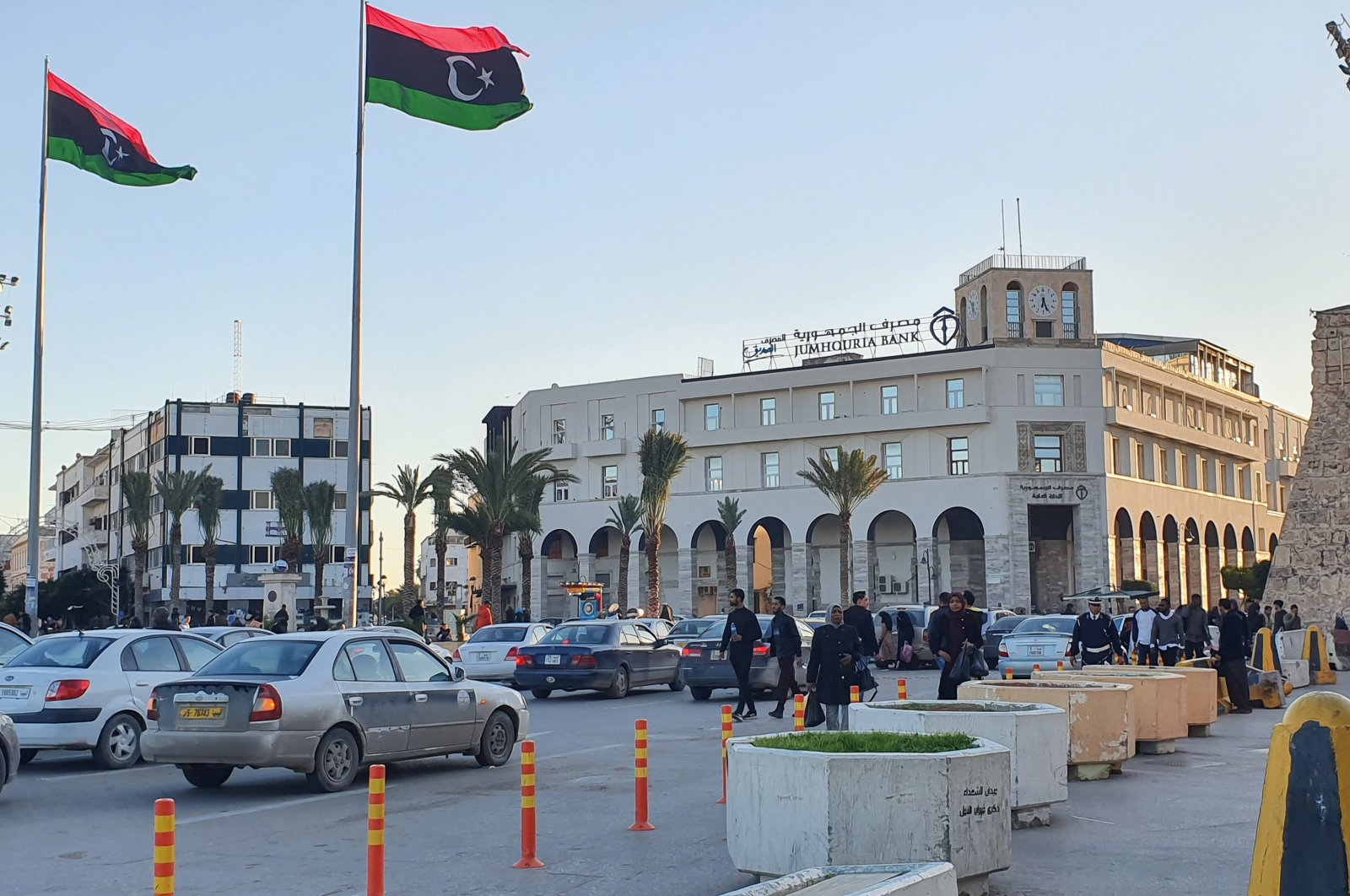 A view of Martyr's square in the Libyan capital Tripoli, Jan. 20, 2020. (AFP)