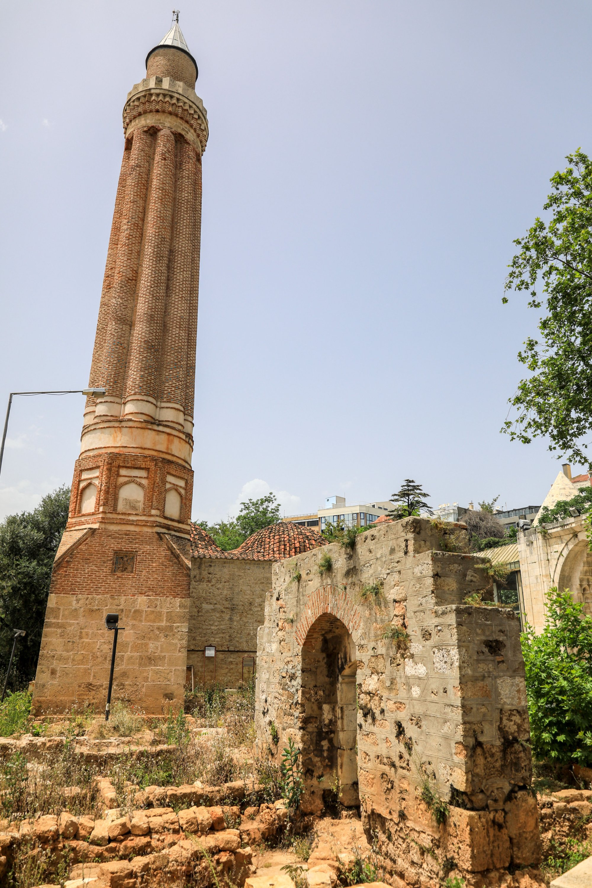 The Yivli Minare Mosque is the first Turkish-Islamic work in Antalya, Turkey. (DHA Photo)