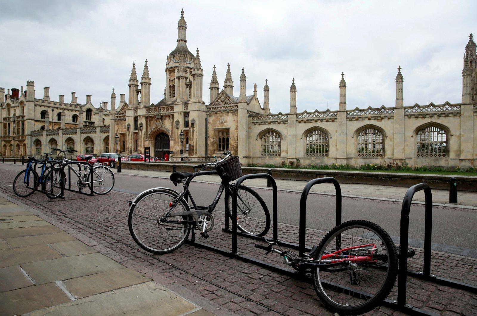 Bikes are seen outside Cambridge University, as the spread of the coronavirus disease (COVID-19) continues, Cambridge, Britain, April 1, 2020. (Reuters Photo)
