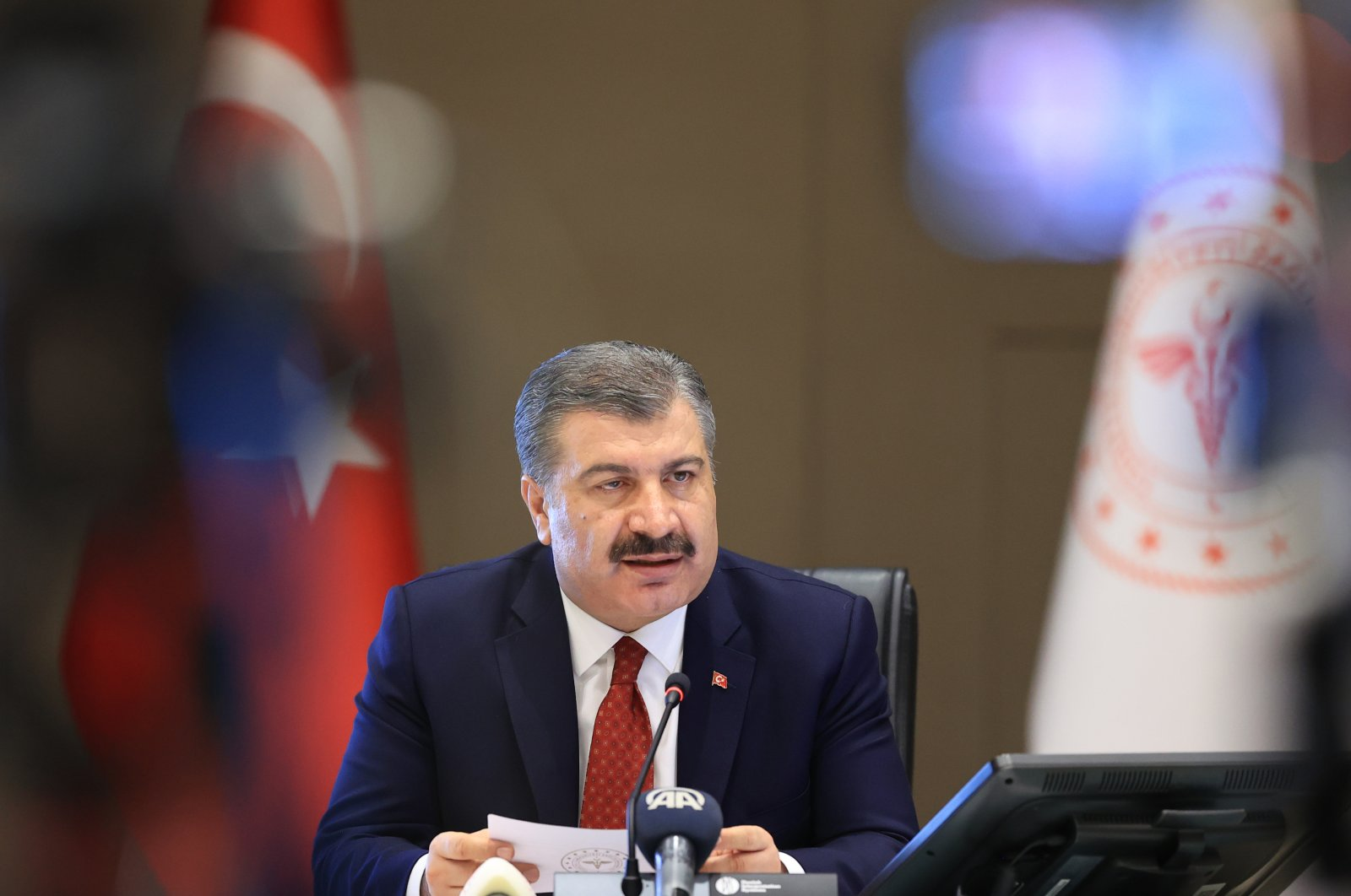 Health Minister Fahrettin Koca. (AA Photo)