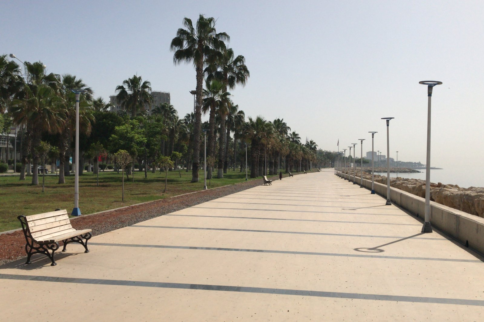 Streets and seaside of southern province of Mersin has been nearly empty due to the pandemic (AA Photo)