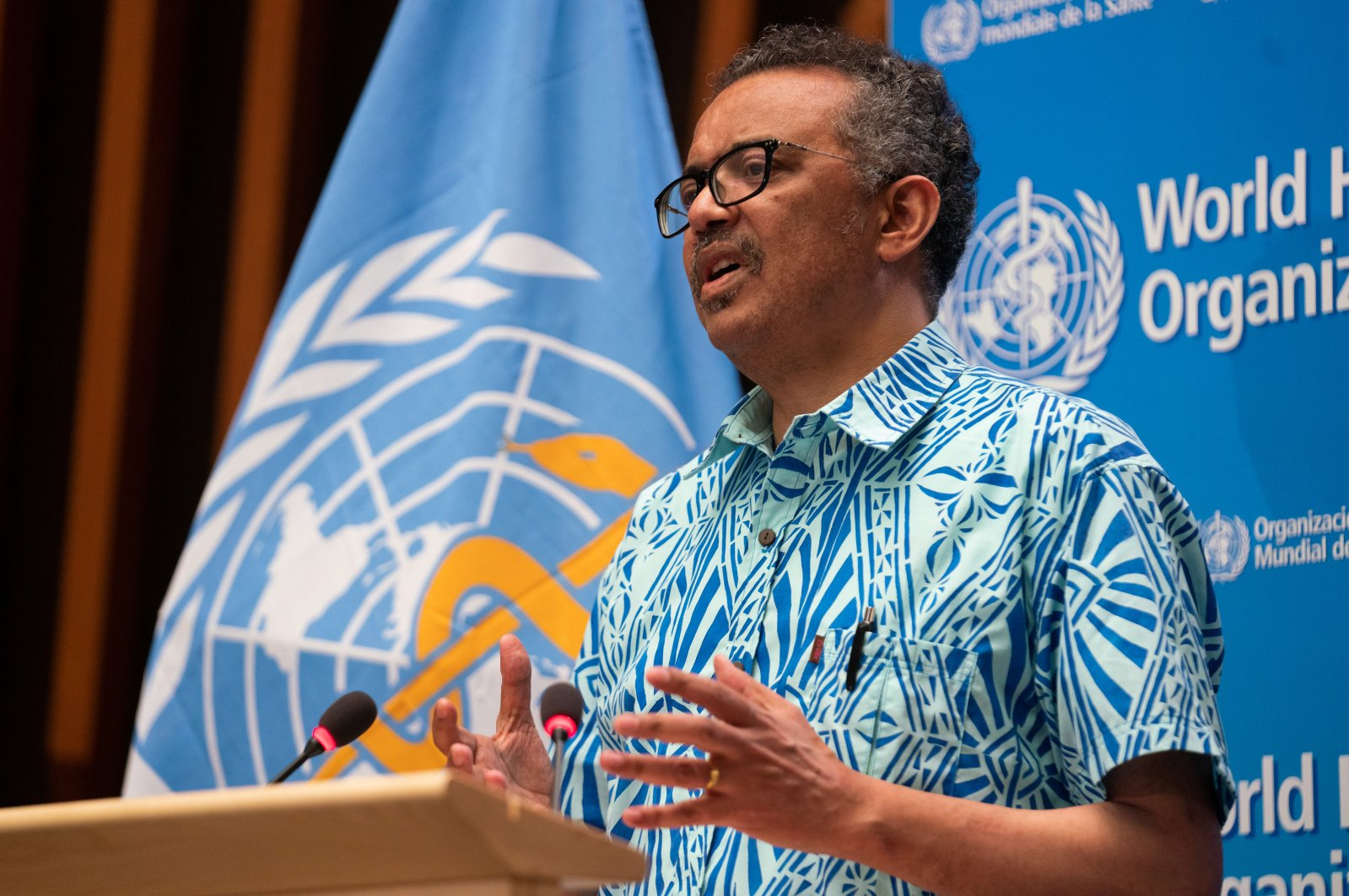 Tedros Adhanom Ghebreyesus, Director General of the World Health Organization (WHO) attends the virtual 73rd World Health Assembly (WHA) during the coronavirus disease outbreak in Geneva, Switzerland, May 19, 2020. (Reuters Photo)