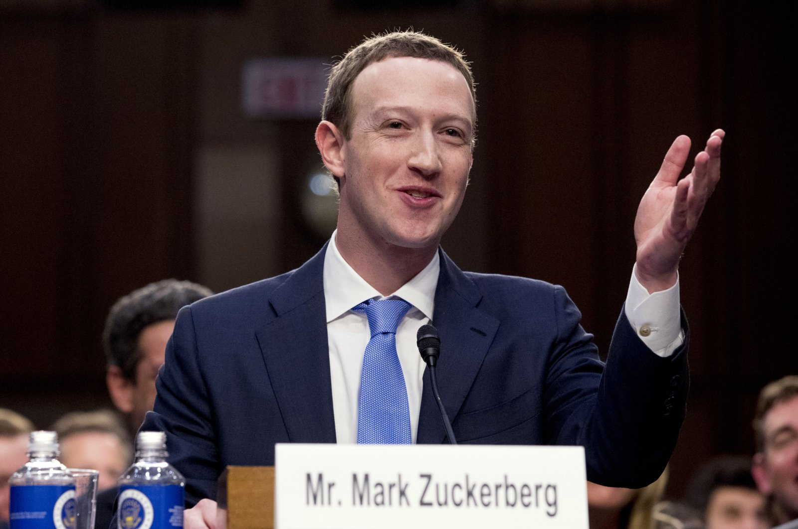 Facebook CEO Mark Zuckerberg testifies before a joint hearing of the commerce and judiciary committees on Capitol Hill in Washington, D.C., U.S., April 10, 2018. (AP Photo)