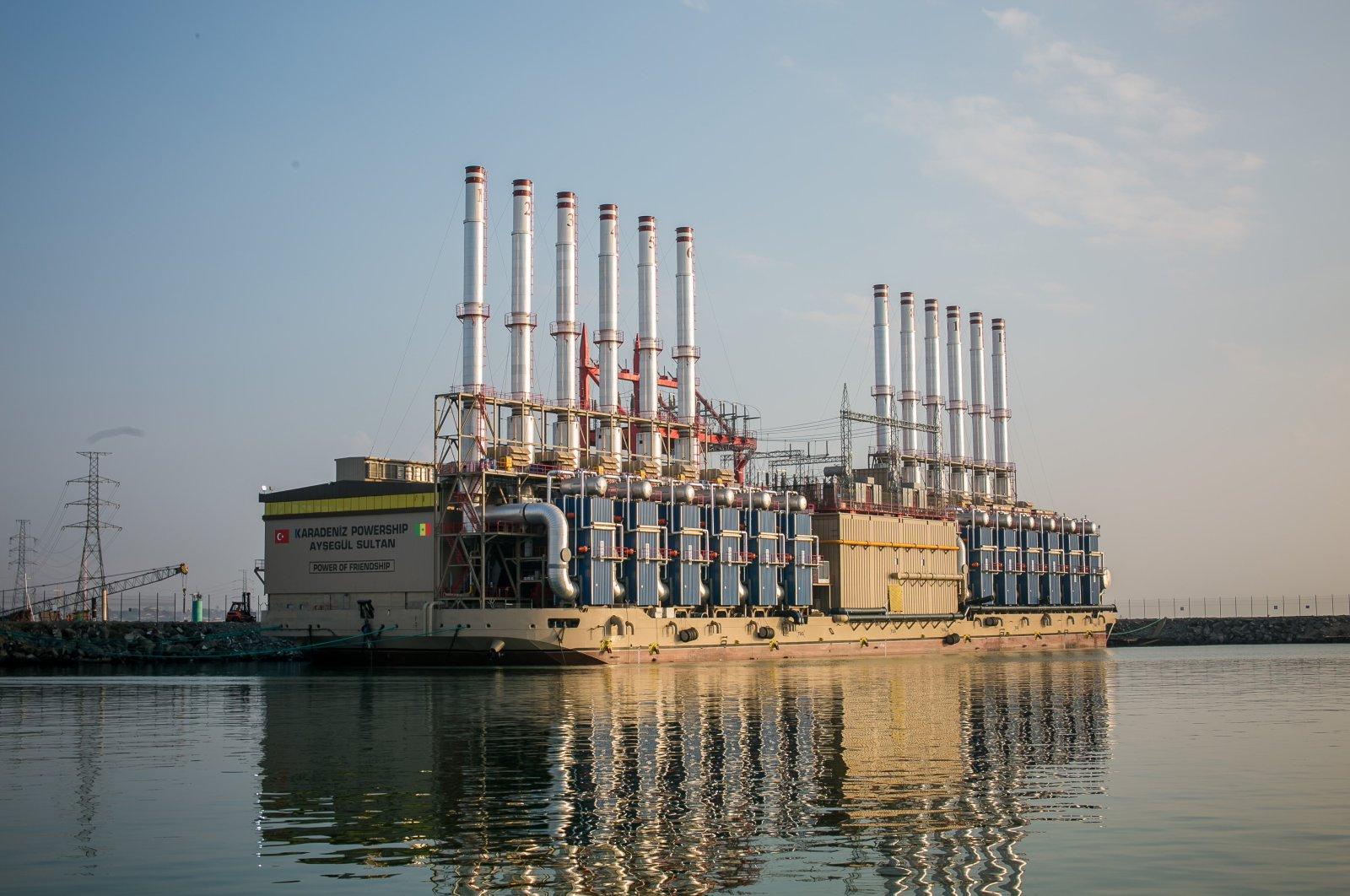 Karpowership's 235-megawatt-capacity powership, Ayşegül Sultan, was sent to Senegal to meet 15% of country's electricity needs. (Karpowership via AA)