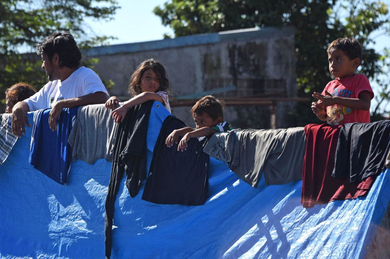 Honduran migrants head to the U.S., Huixtla, Oct. 23, 2018. (AFP Photo)