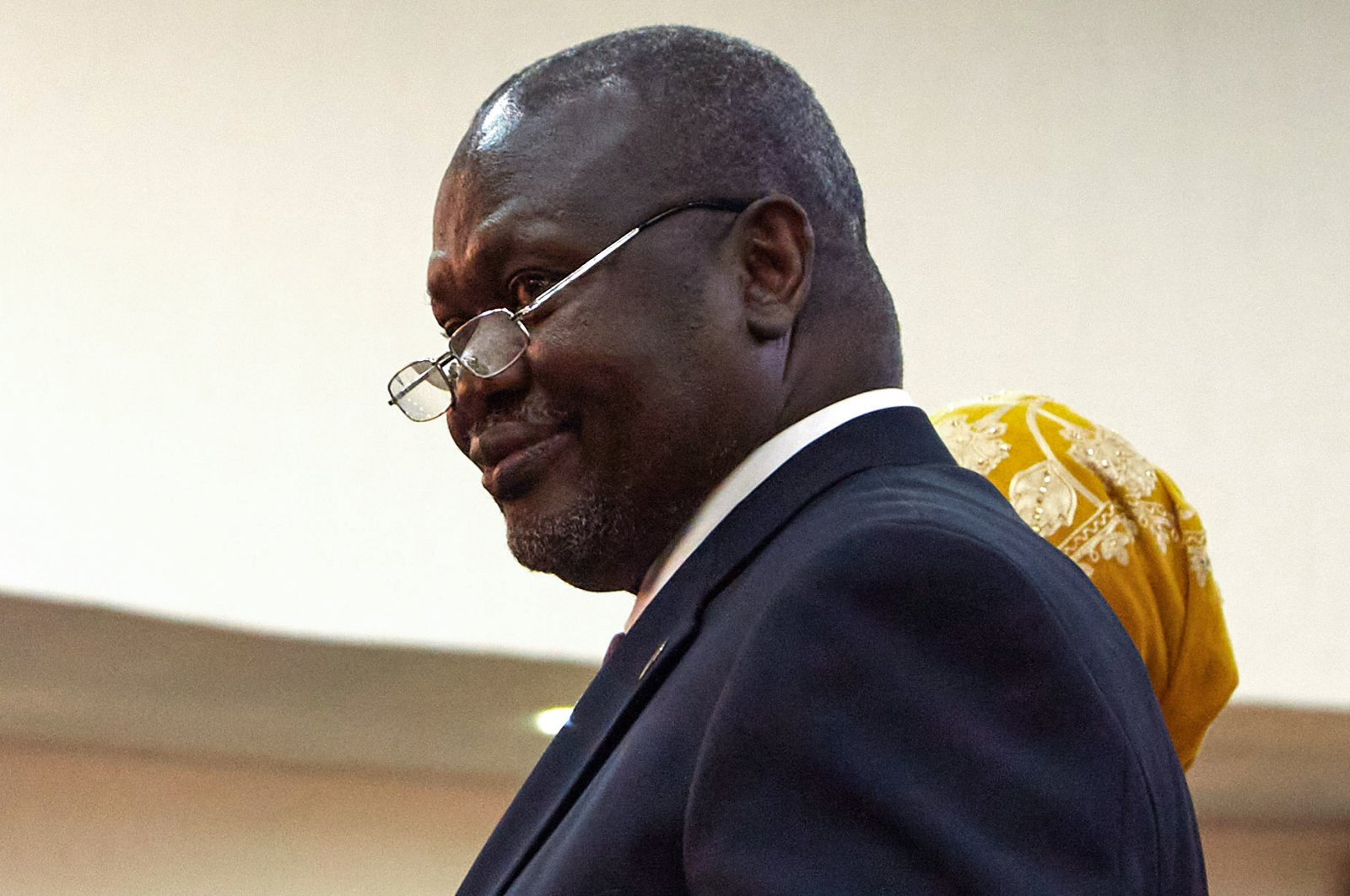 In this file photo taken on February 22, 2020 Riek Machar is sworn in as First Vice President of South Sudan, in Juba. (AFP Photo)