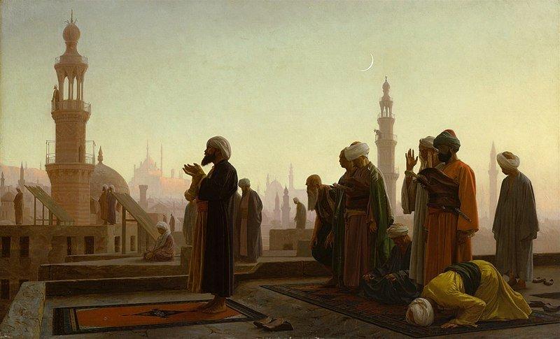 "Jean Leon Gerome's ""Prayer in Cairo."""