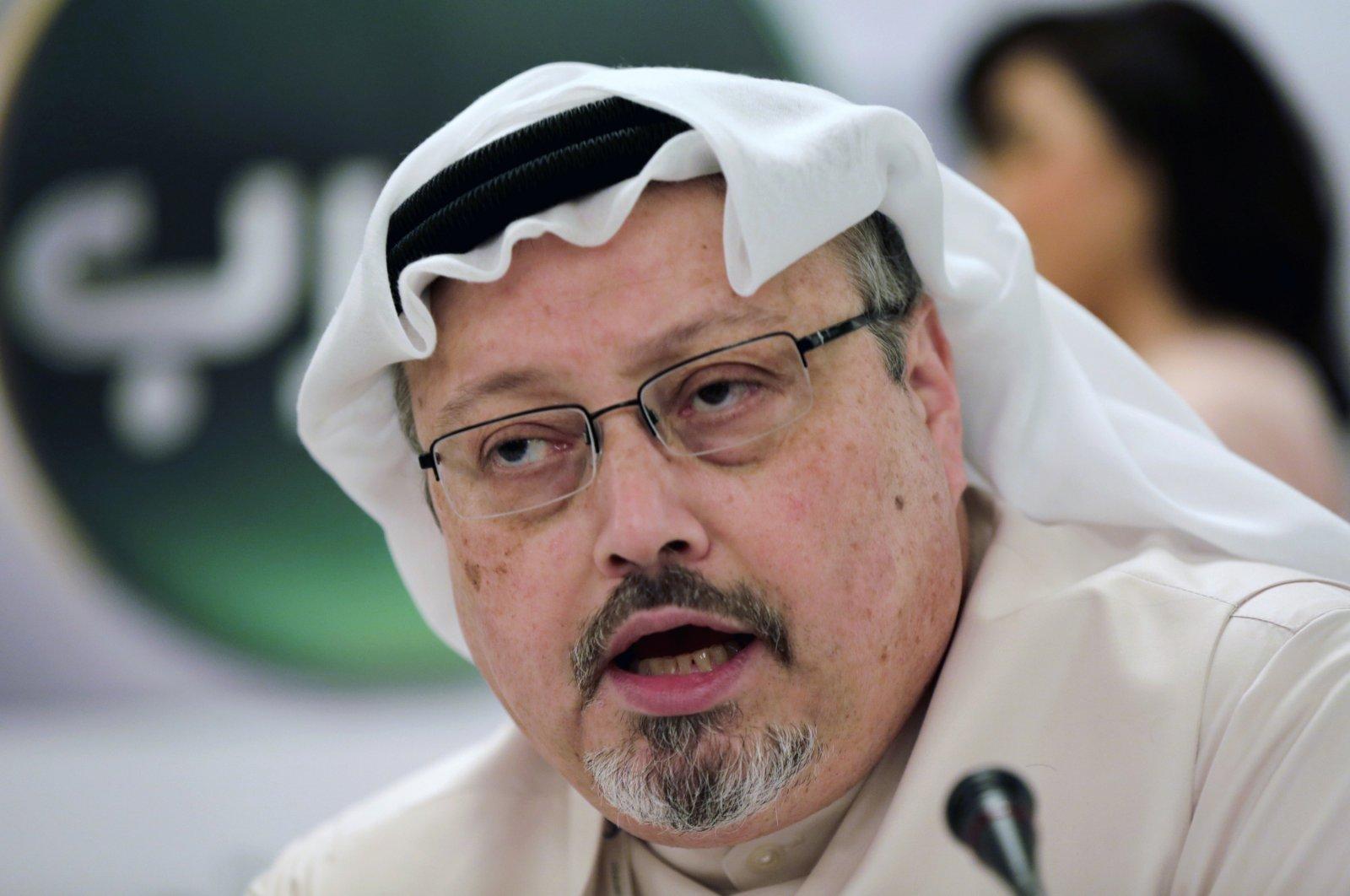 In this Dec. 15, 2014, file photo, Saudi journalist Jamal Khashoggi speaks during a press conference in Manama, Bahrain. (AP Photo)