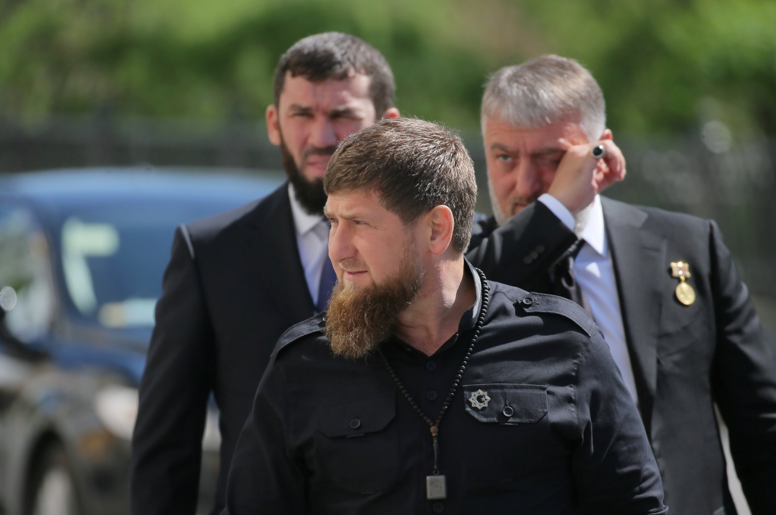Head of the Chechen Republic Ramzan Kadyrov (front) walks before a ceremony inaugurating Vladimir Putin as president of Russia at the Kremlin in Moscow, Russia, May 7, 2018. (Reuters File Photo)