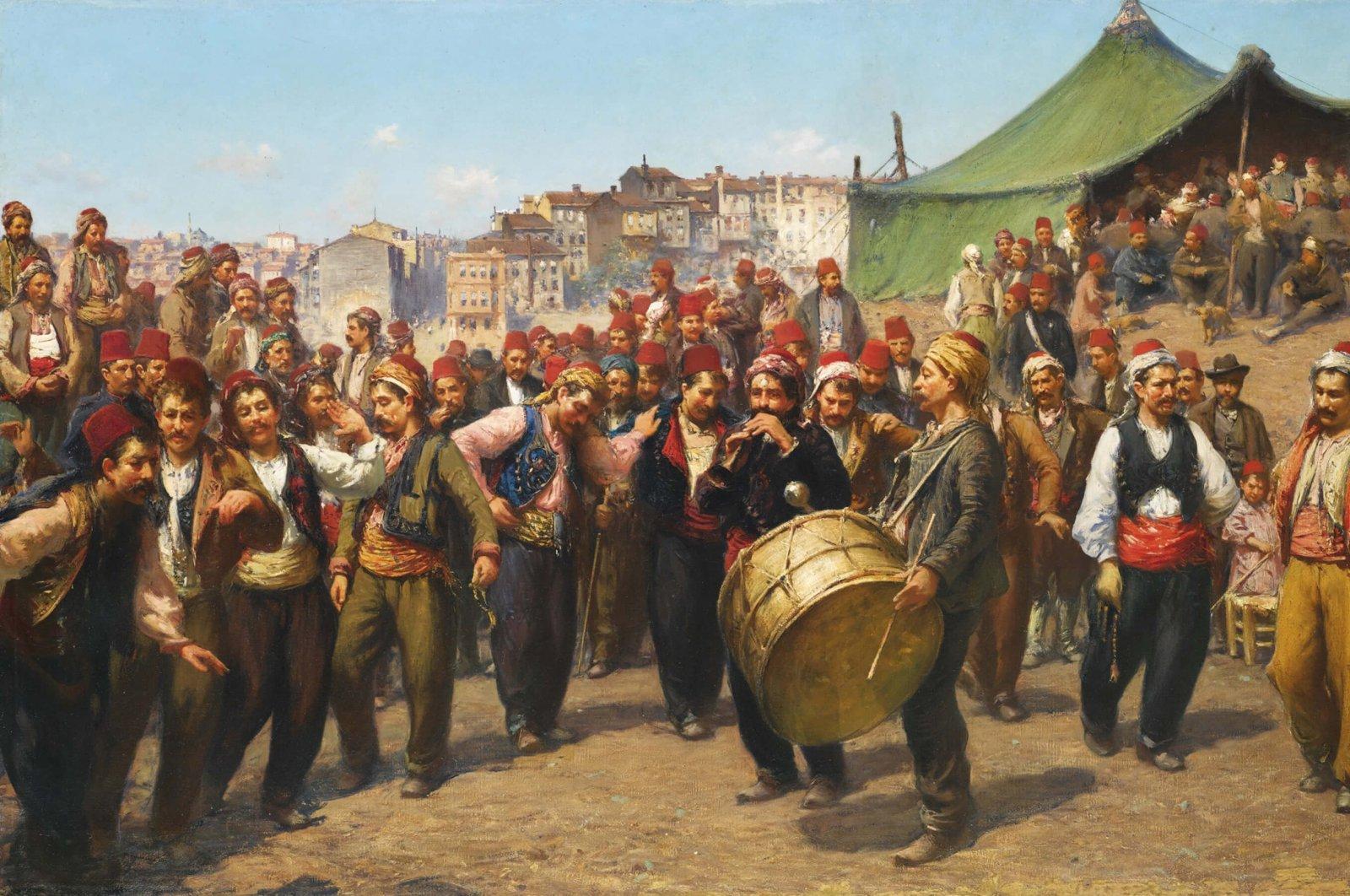 "Italian painter Fausto Zonaro's ""Bayram"" shows the joy the festivities inspire among the people."