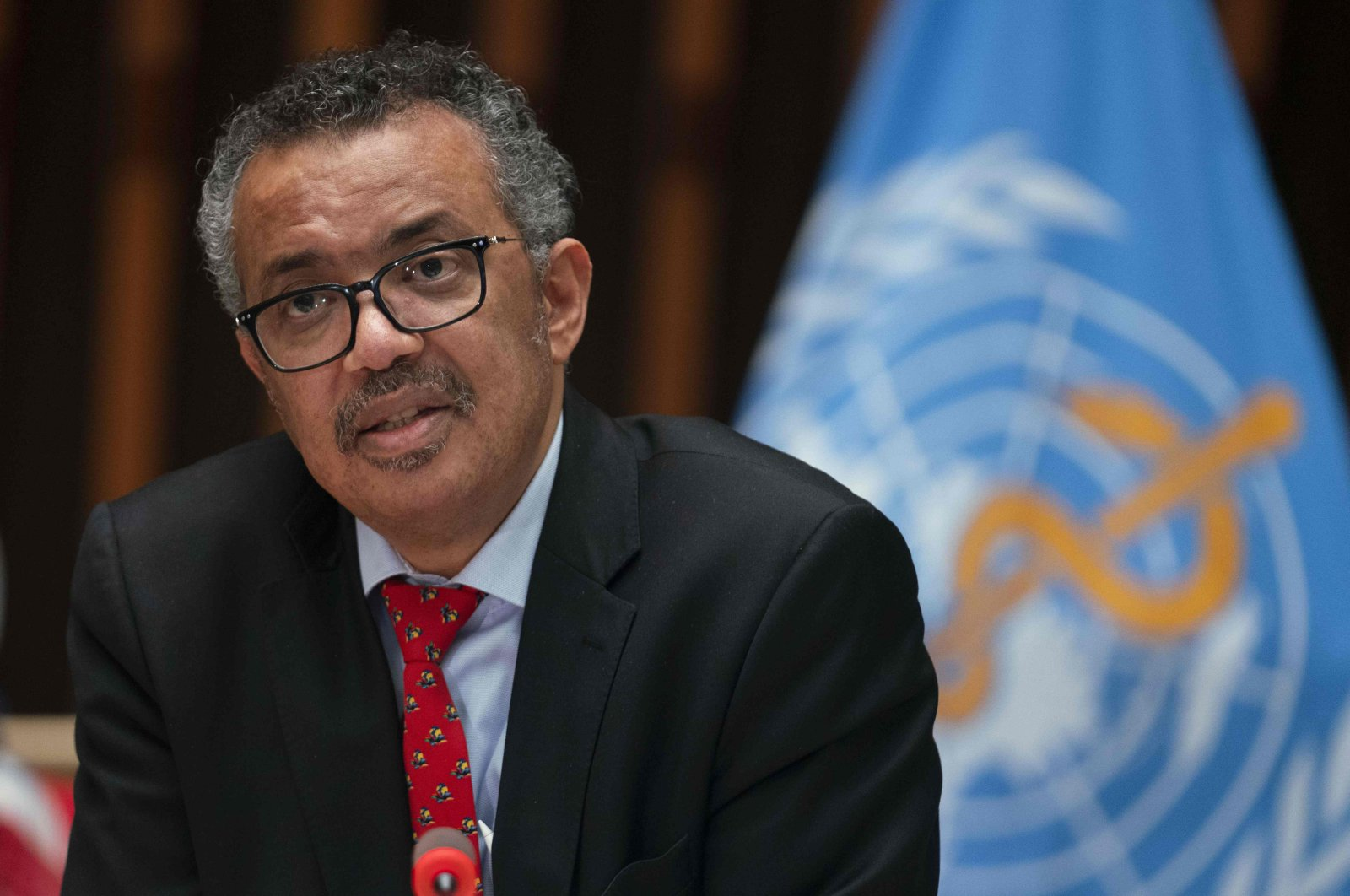 WHO Director-General Tedros Adhanom Ghebreyesus attending the 147th session of the WHO Executive Board held virtually by videoconference, amid the COVID-19 pandemic, Geneva, Switzerland, May 22, 2020 (Christopher Black/ World Health Organization via AFP Photo)