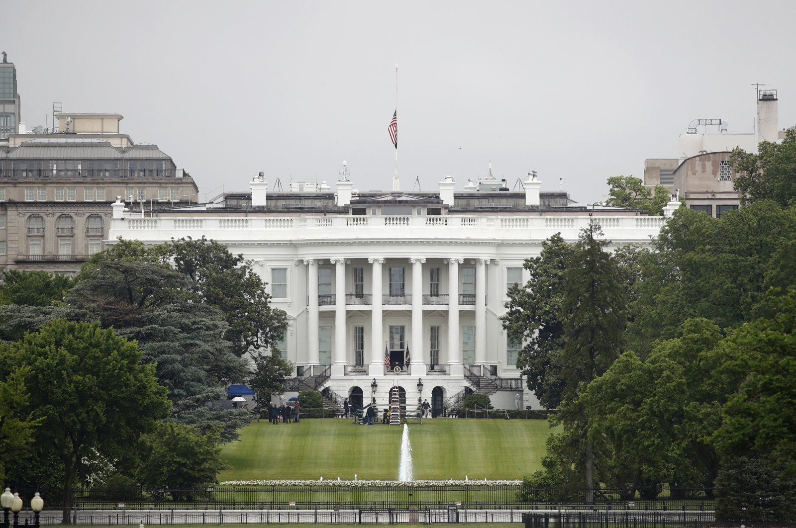 In this May 22, 2020, file photo, an American flag flies at half-staff above the White House in Washington. (AP Photo)