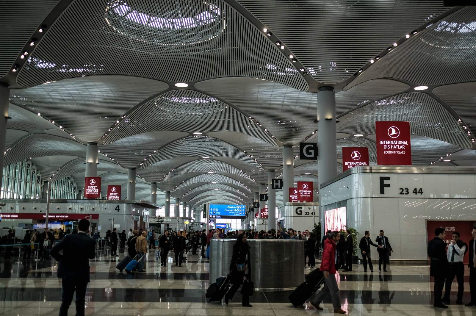 Istanbul Airport, Istanbul, Turkey.