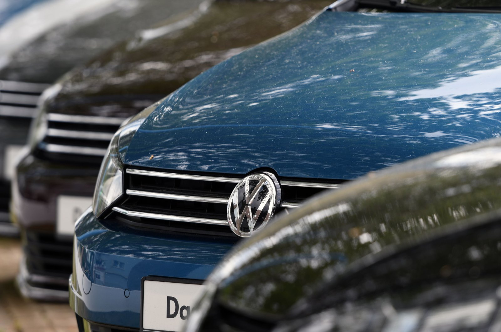 Used cars of German carmaker Volkswagen (VW) are for sale at a car dealer in Hamm, western Germany, May 25, 2020. (AFP Photo)